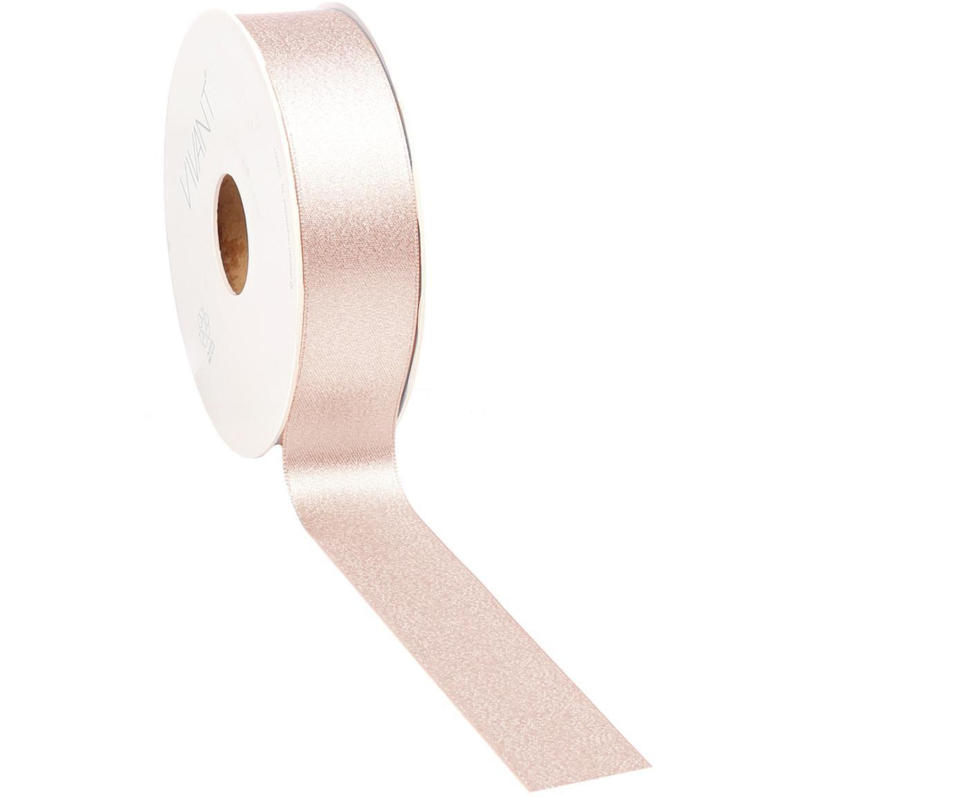 Wstążka prezentowa Victoria, Poliester, Blady różowy, S 3 x D 2000 cm