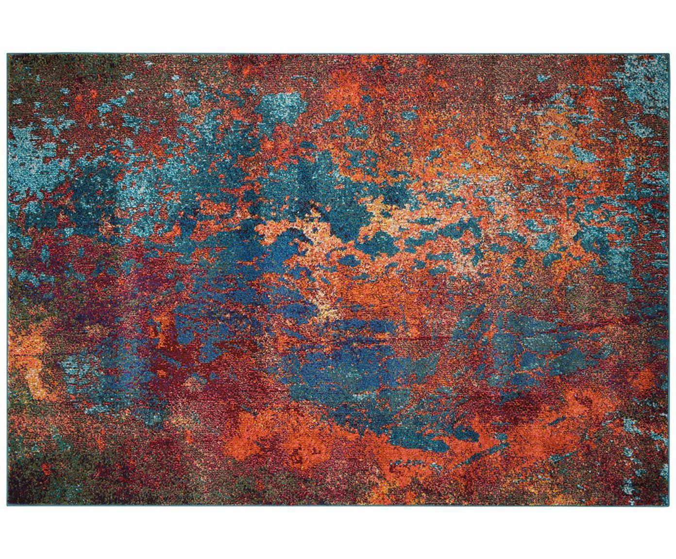 Dywan Celestial, Odcienie czerwonego, odcienie niebieskiego, zielony, S 160 x D 220 cm (Rozmiar M)