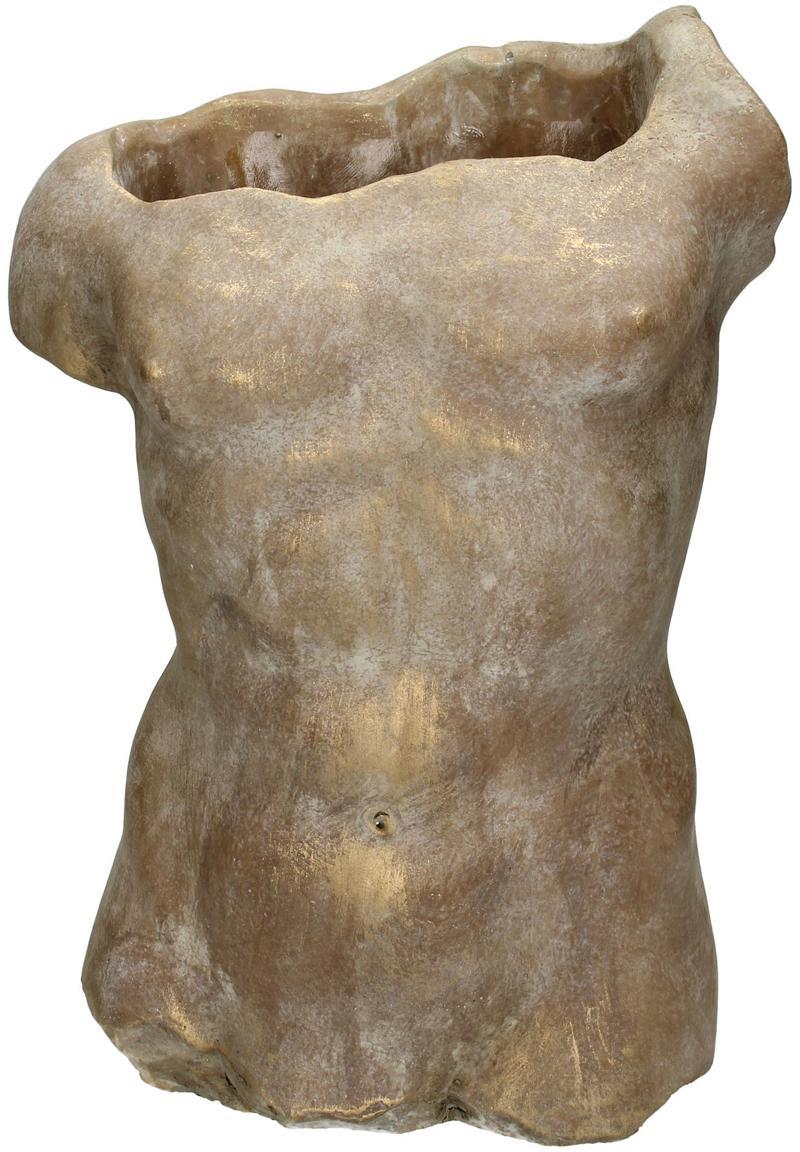 Portavaso in cemento Torso, Cemento, Dorato, Larg. 21 x Alt. 29 cm