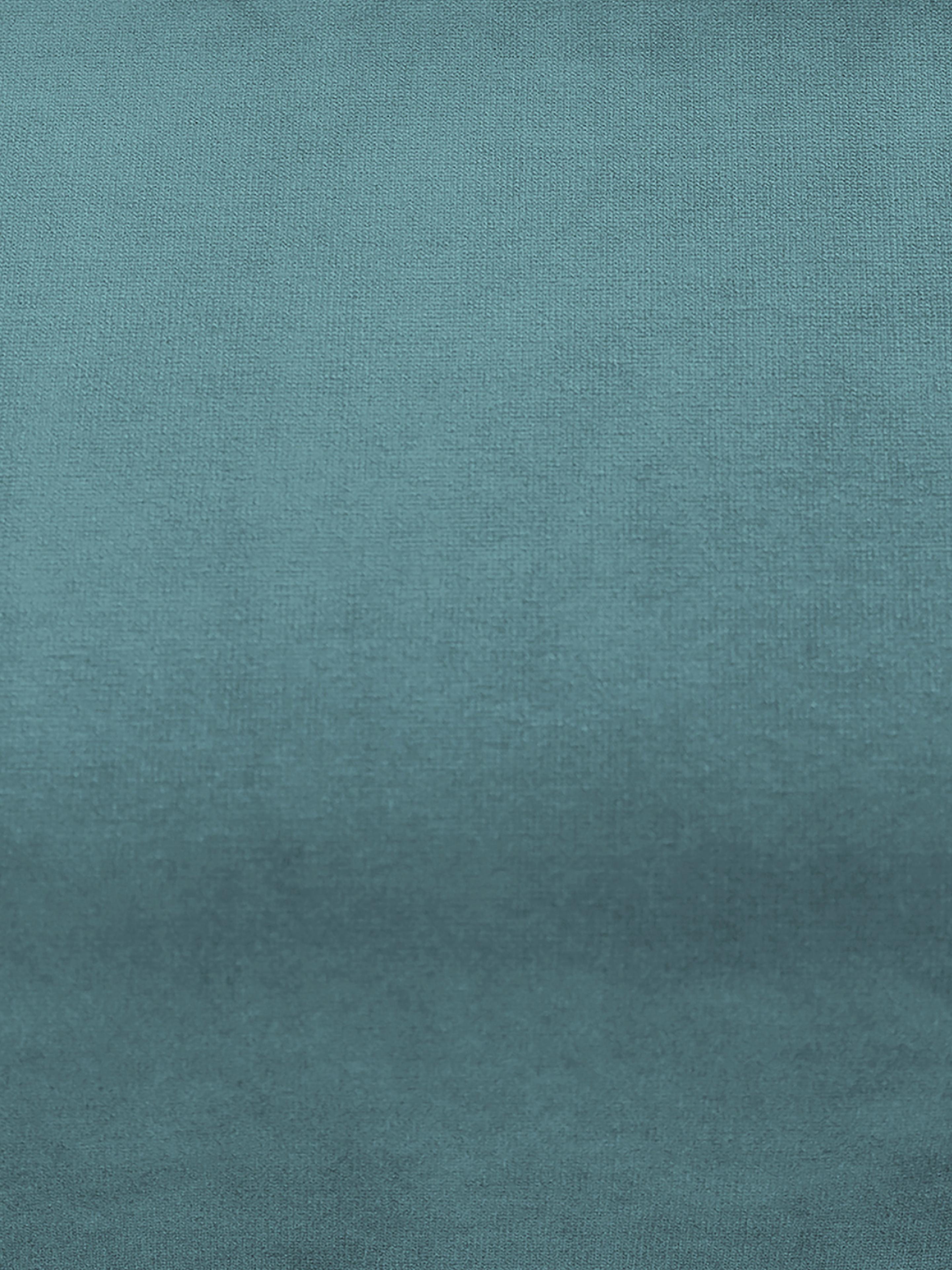 Samt-Ecksofa Moby, Bezug: Samt (Hochwertiger Polyes, Gestell: Massives Kiefernholz, Füße: Metall, pulverbeschichtet, Samt Türkis, B 280 x T 160 cm