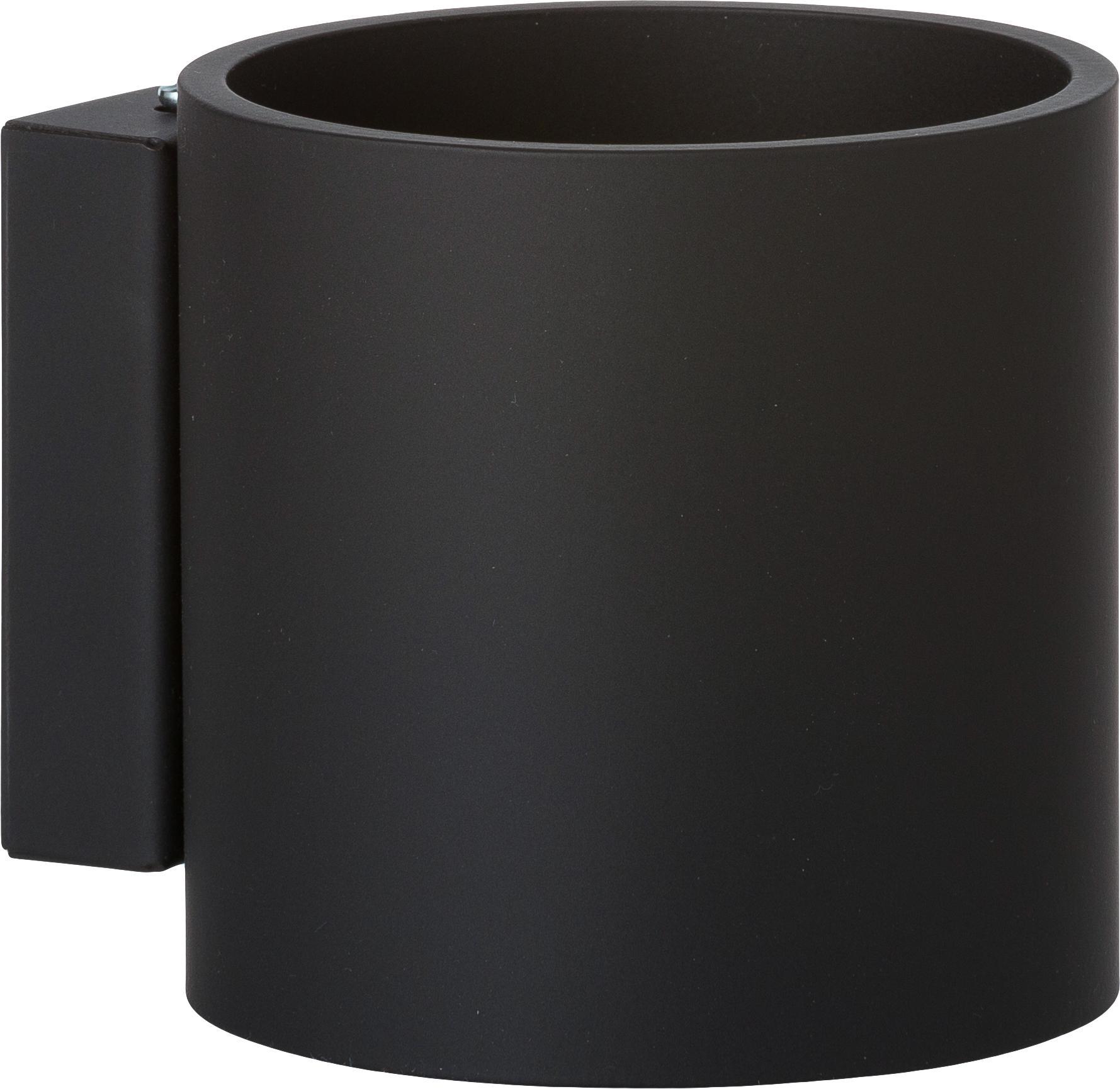 Applique Roda, Alluminio verniciato a polvere, Nero, Larg. 10 x Alt. 10 cm