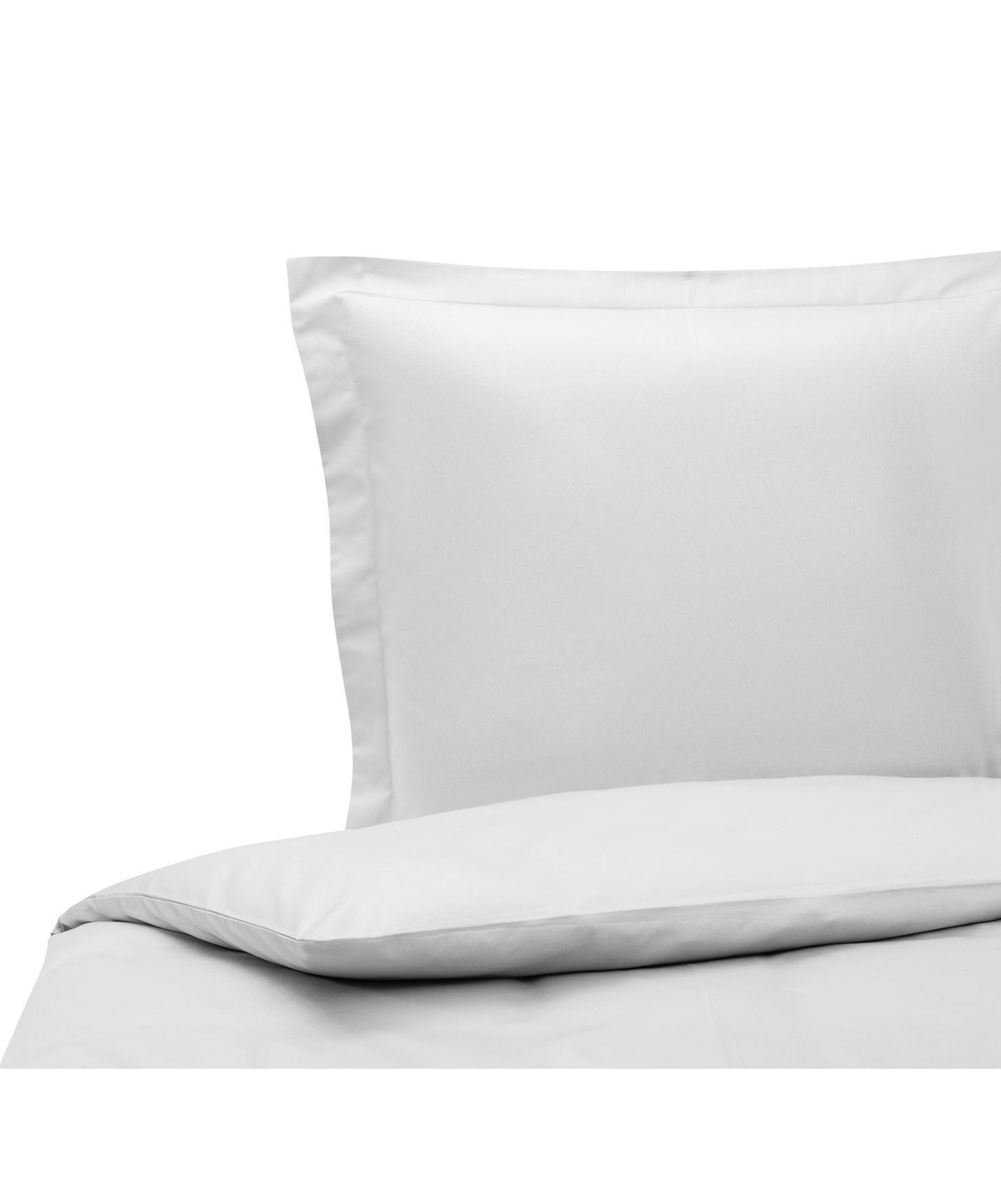Funda nórdica de satén Premium, Gris claro, Cama 90 cm (150 x 200 cm)