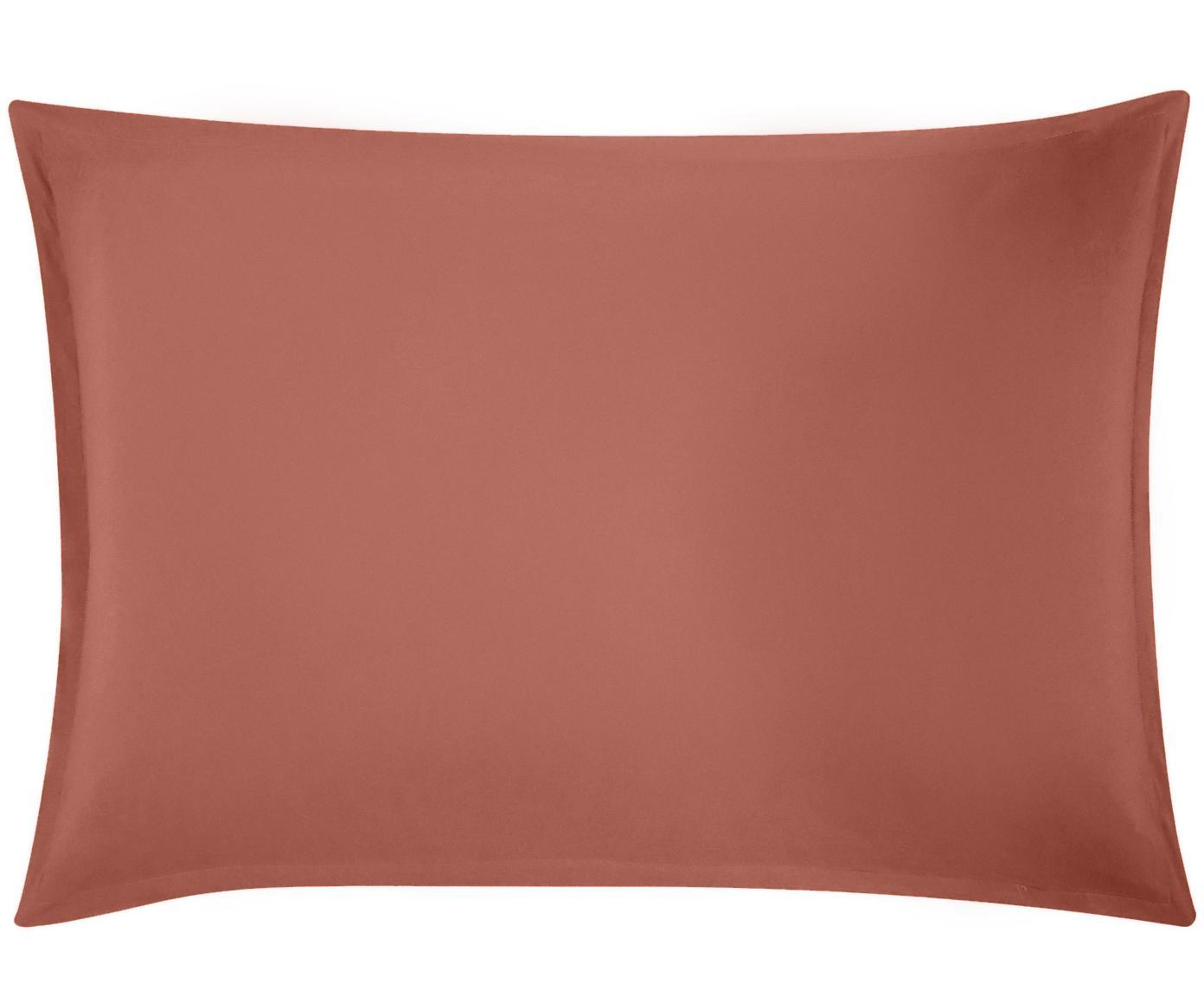Funda de almohada de lino Nature, 52%lino, 48%algodón Con efecto Stonewash para una sensación más suave, Terracota, An 50 x L 70 cm