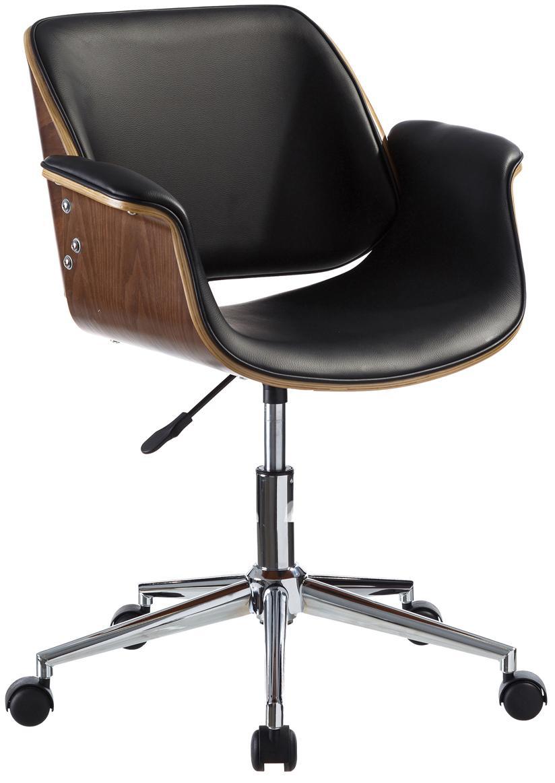 Biurowe krzesło obrotowe Marbella, Stelaż: metal, polerowany, Czarny, brązowy, odcienie srebrnego, S 59 x G 57 cm