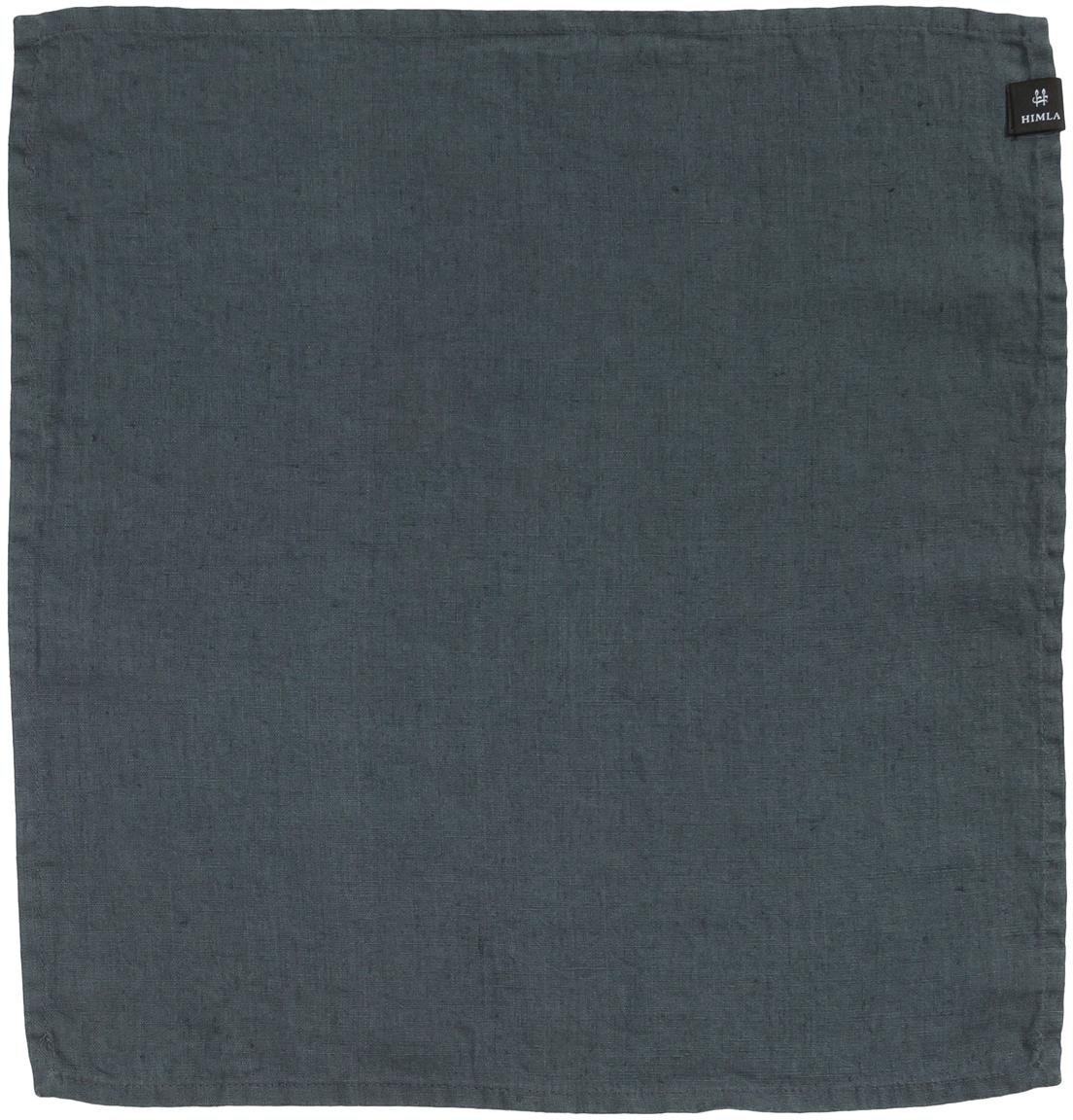 Tovagliolo in lino Sunshine 4 pz, Lino, Grigio scuro, Larghezza 45 cm x Lunghezza 45 cm