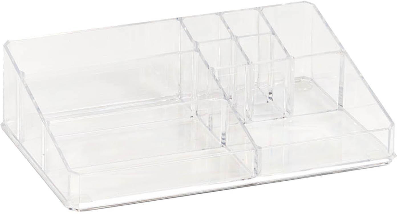 Porta trucchi Clear, Plastica, Trasparente, Larg. 32 x Alt. 9 cm