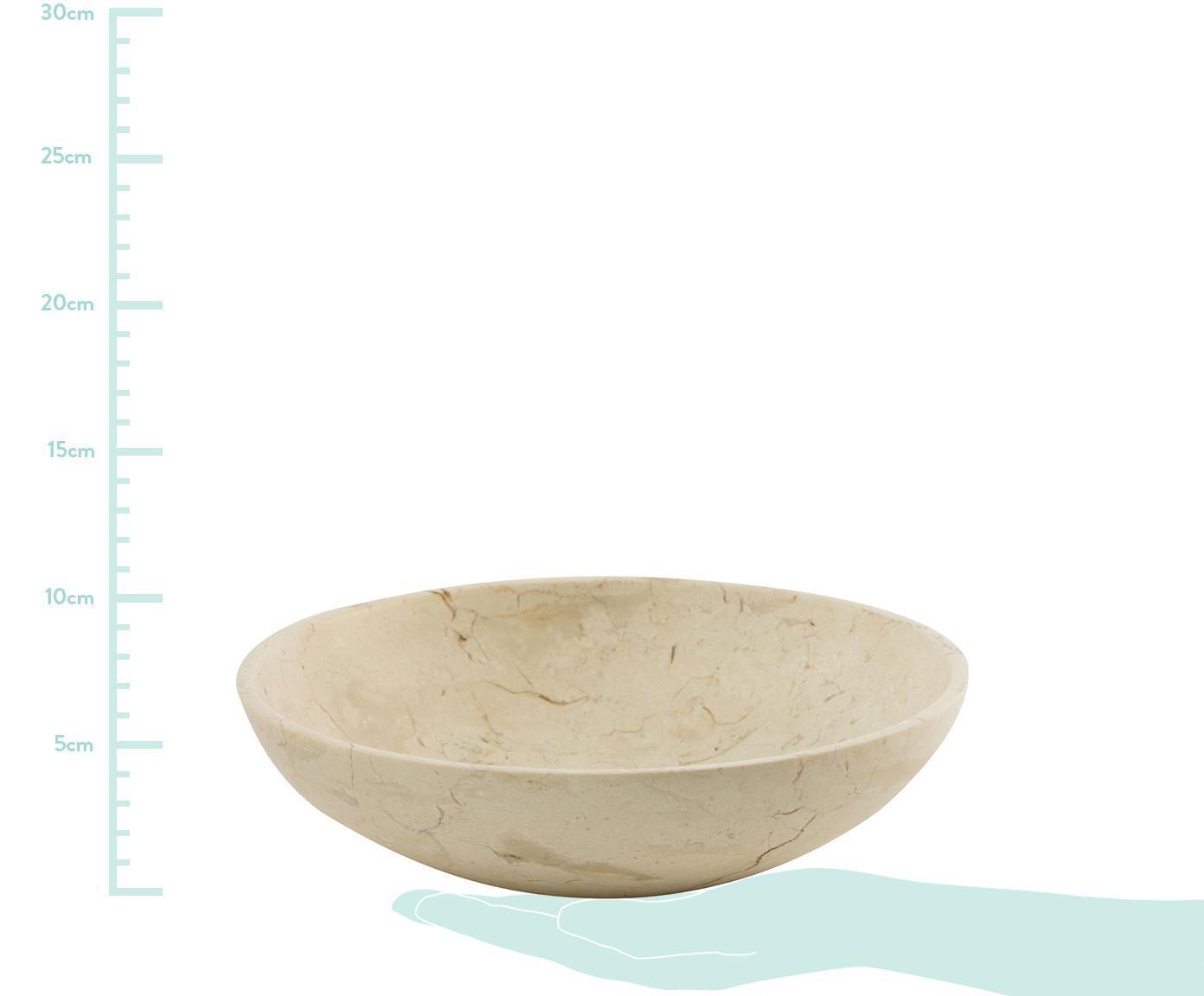 Miska dekoracyjna z marmuru Luxor, Marmur, Beżowy, Ø 25 x W 7 cm