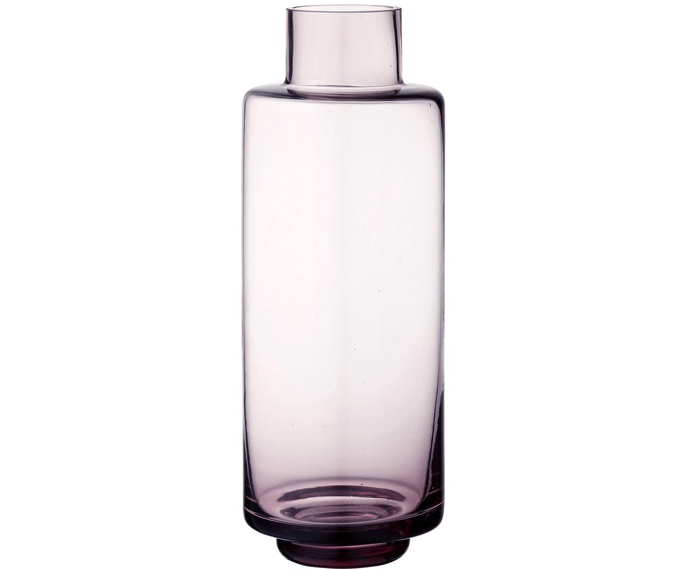 Grosse mundgeblasene Vase Hedria, Glas, Rosa, Ø 11 x H 30 cm