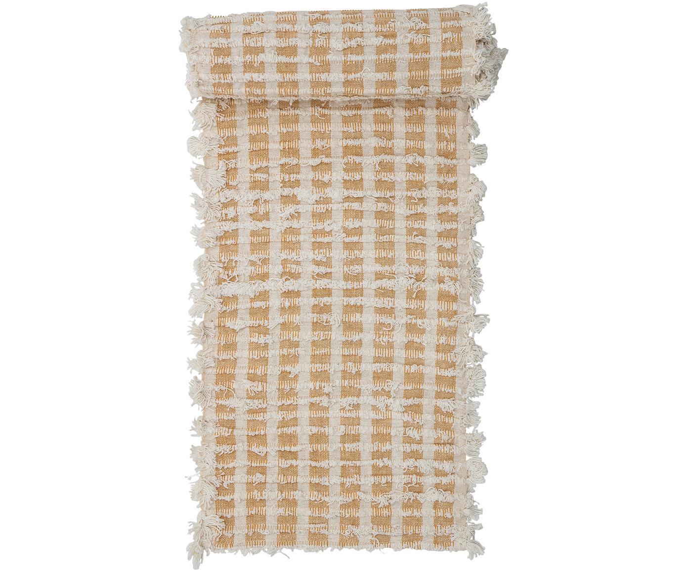 Runner Riala, 96% cotone, 4% altre fibre, Beige, crema, Larg. 35 x Lung. 180 cm
