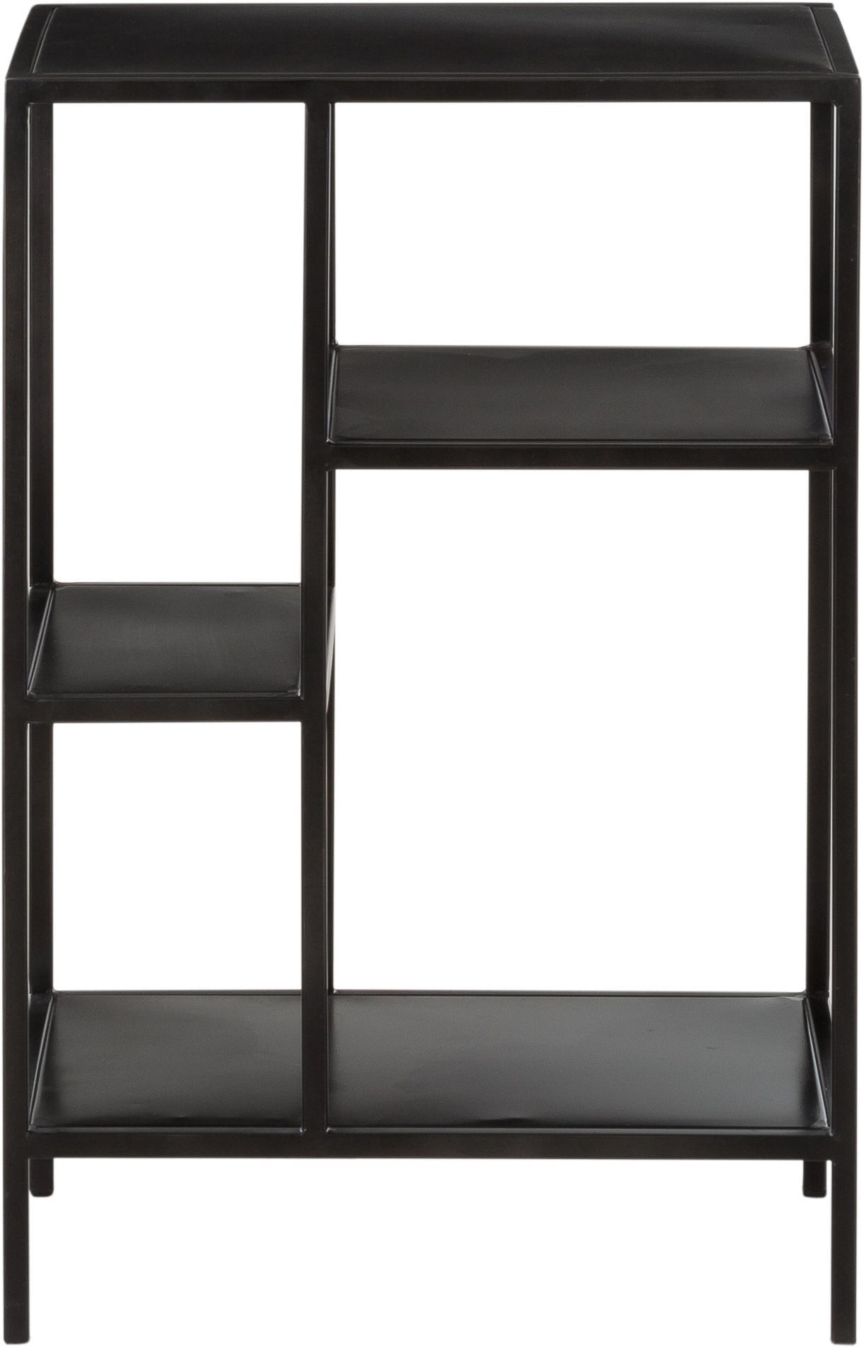 Mensola in metallo Display, Metallo verniciato a polvere, Nero, Larg. 50 x Prof. 74 cm