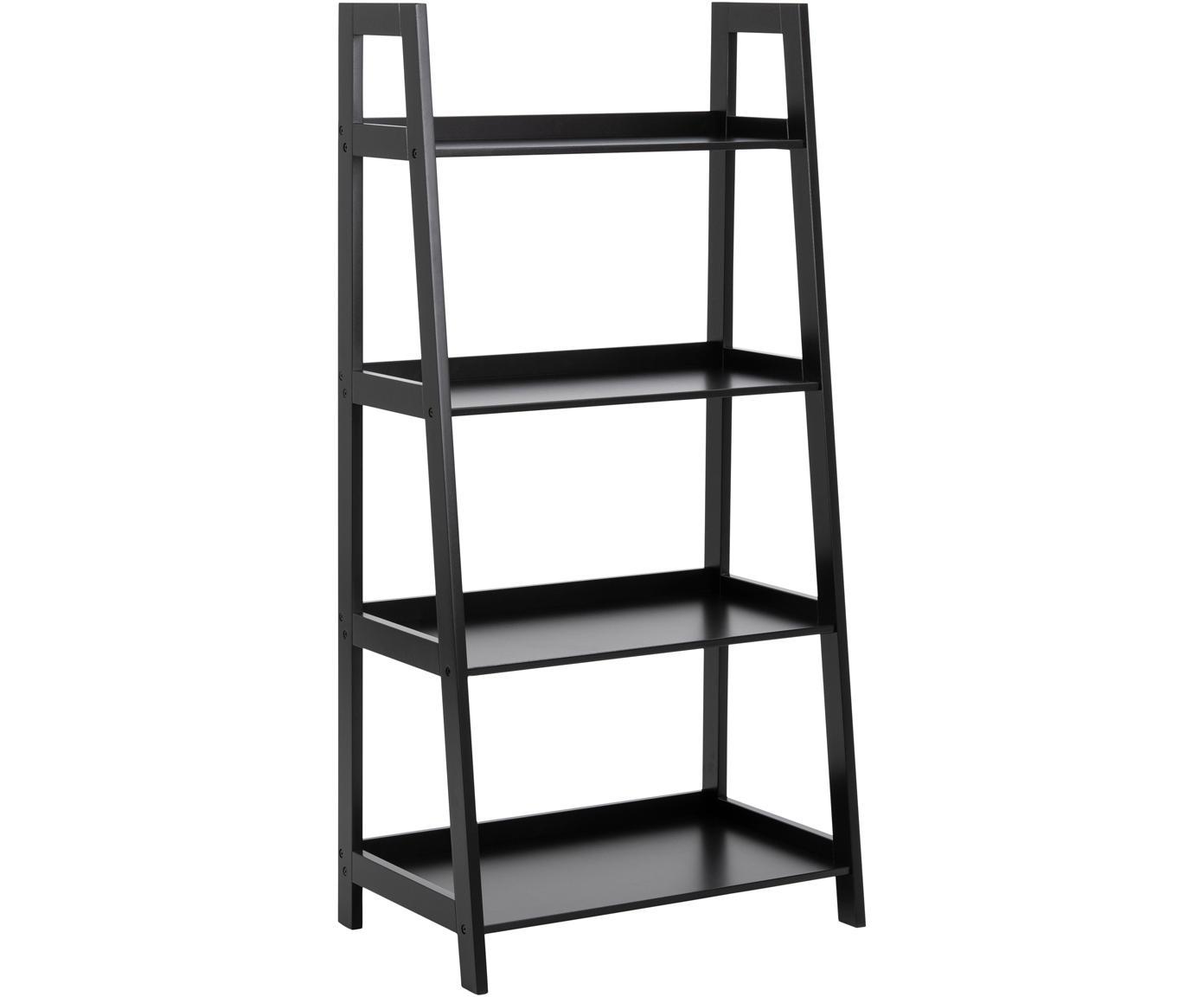 Ladder wandkast Wally in zwart, Gelakt MDF, Zwart, B 63 cm