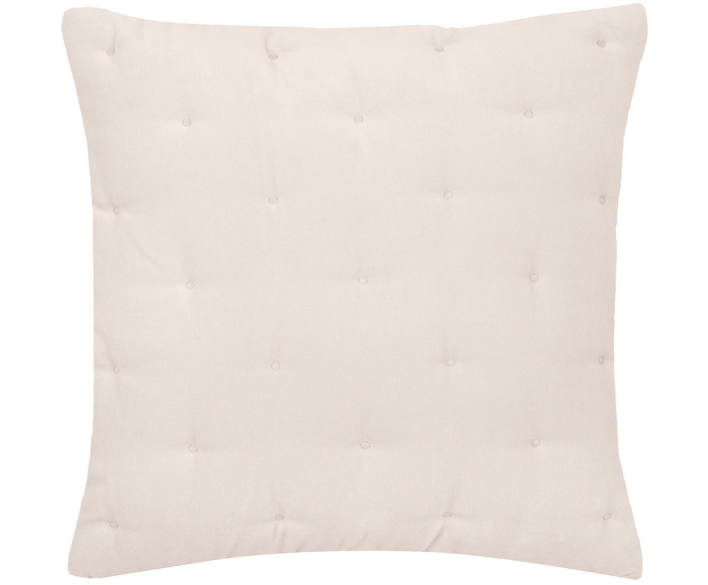 Poszewka na poduszkę z aksamitu Cheryl, 100% bawełna, Szampański, S 50 x D 50 cm