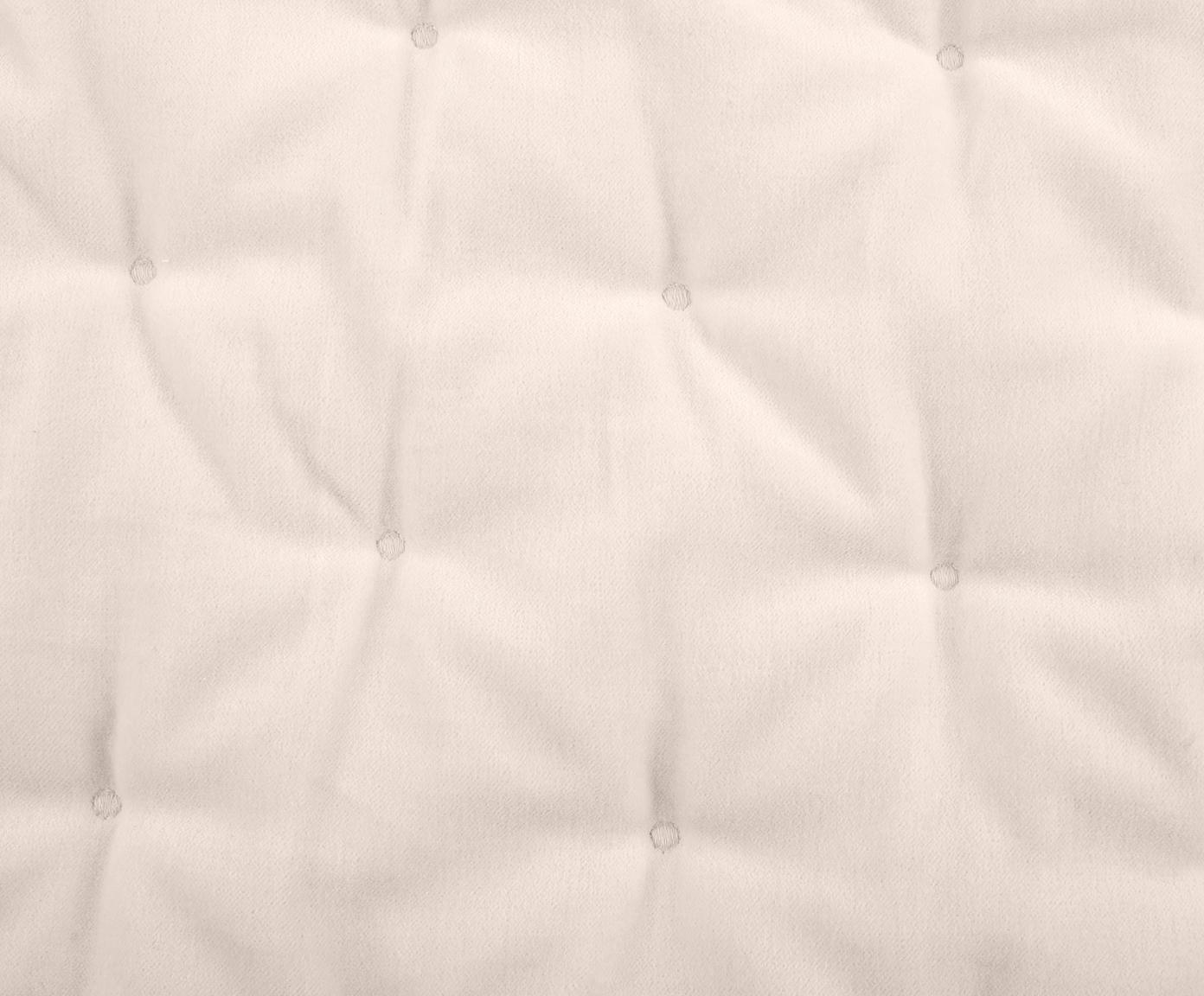 Wattierte Samt-Kissenhülle Cheryl mit dekorativer Steppung, 100% Baumwolle, Champagner, 50 x 50 cm