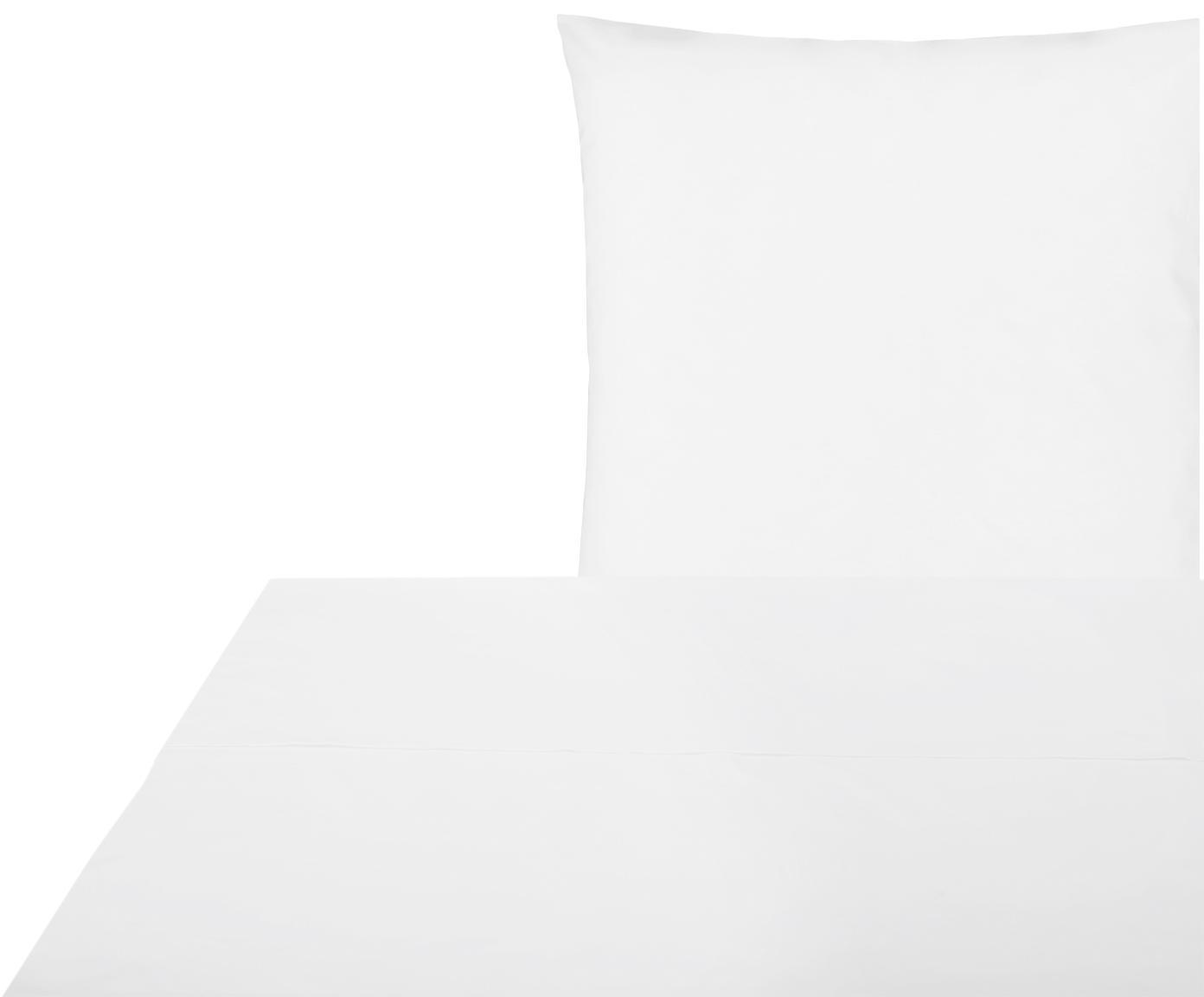 Set lenzuola in percalle Elsie 2 pz, Tessuto: percalle Densità del filo, Bianco, 150 x 300 cm