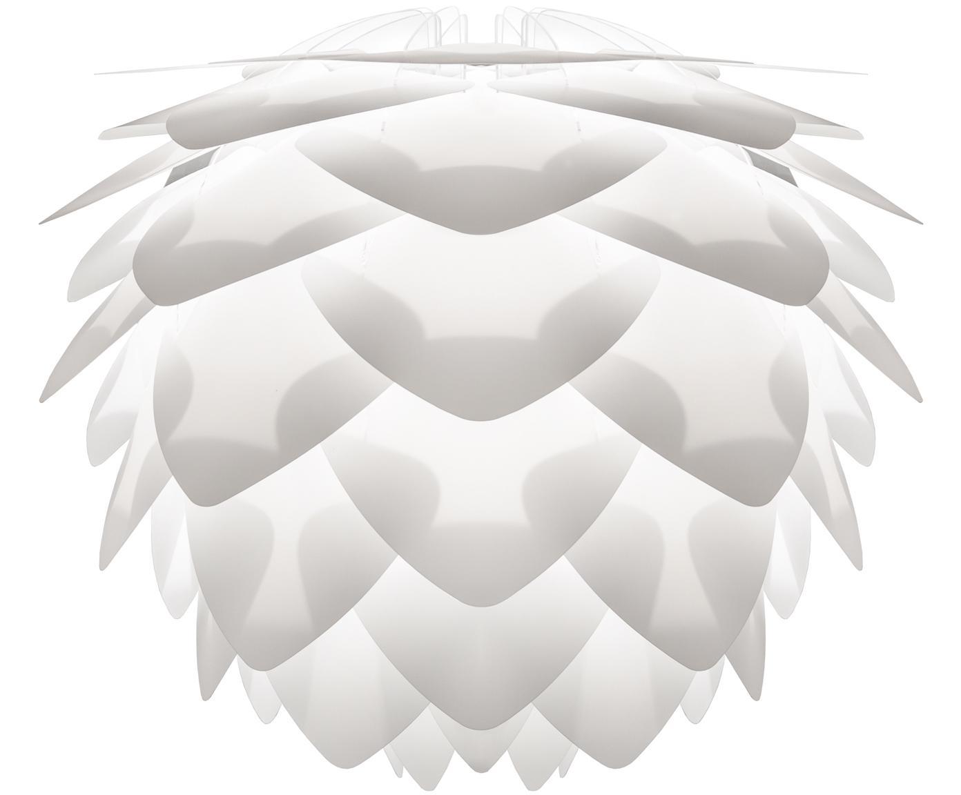 Lampenkap Silvia, Polypropyleen, polycarbonaat, Wit, Ø 32 x H 25 cm