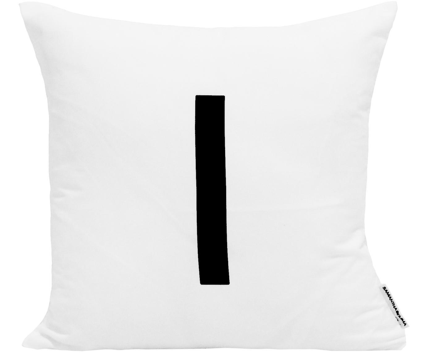 Poszewka na poduszkę Alphabet (warianty od A do Z), Poliester, Czarny, biały, Poszewka na poduszkę I