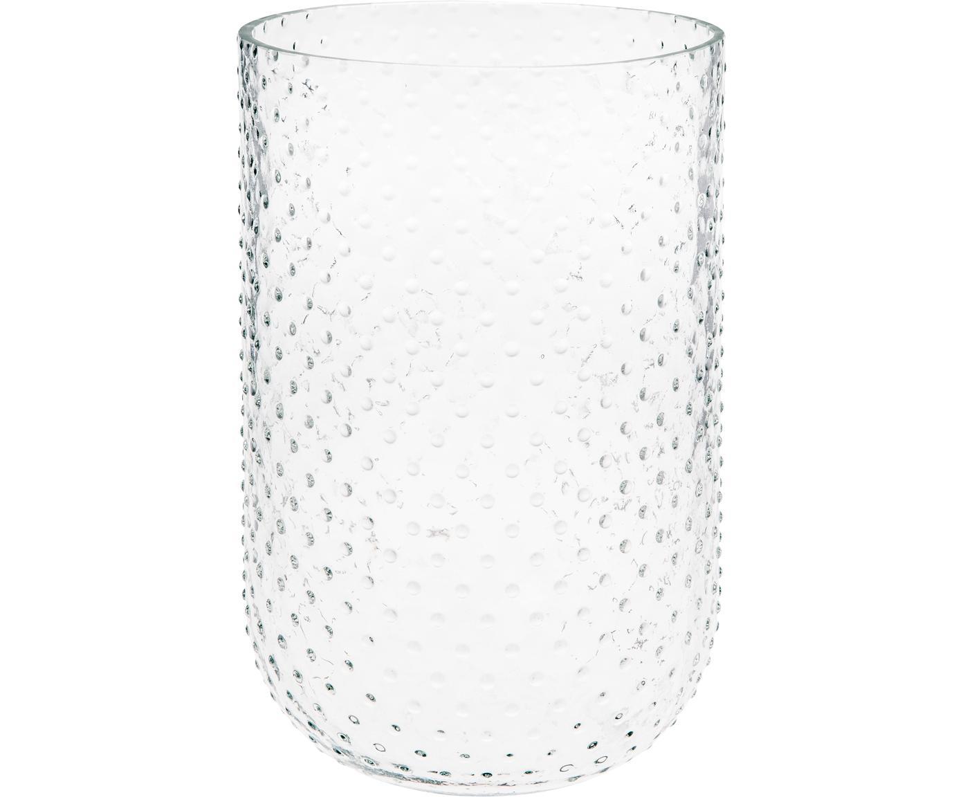Glas-Vase Bumble, Glas, Transparent, Ø 15 x H 24 cm