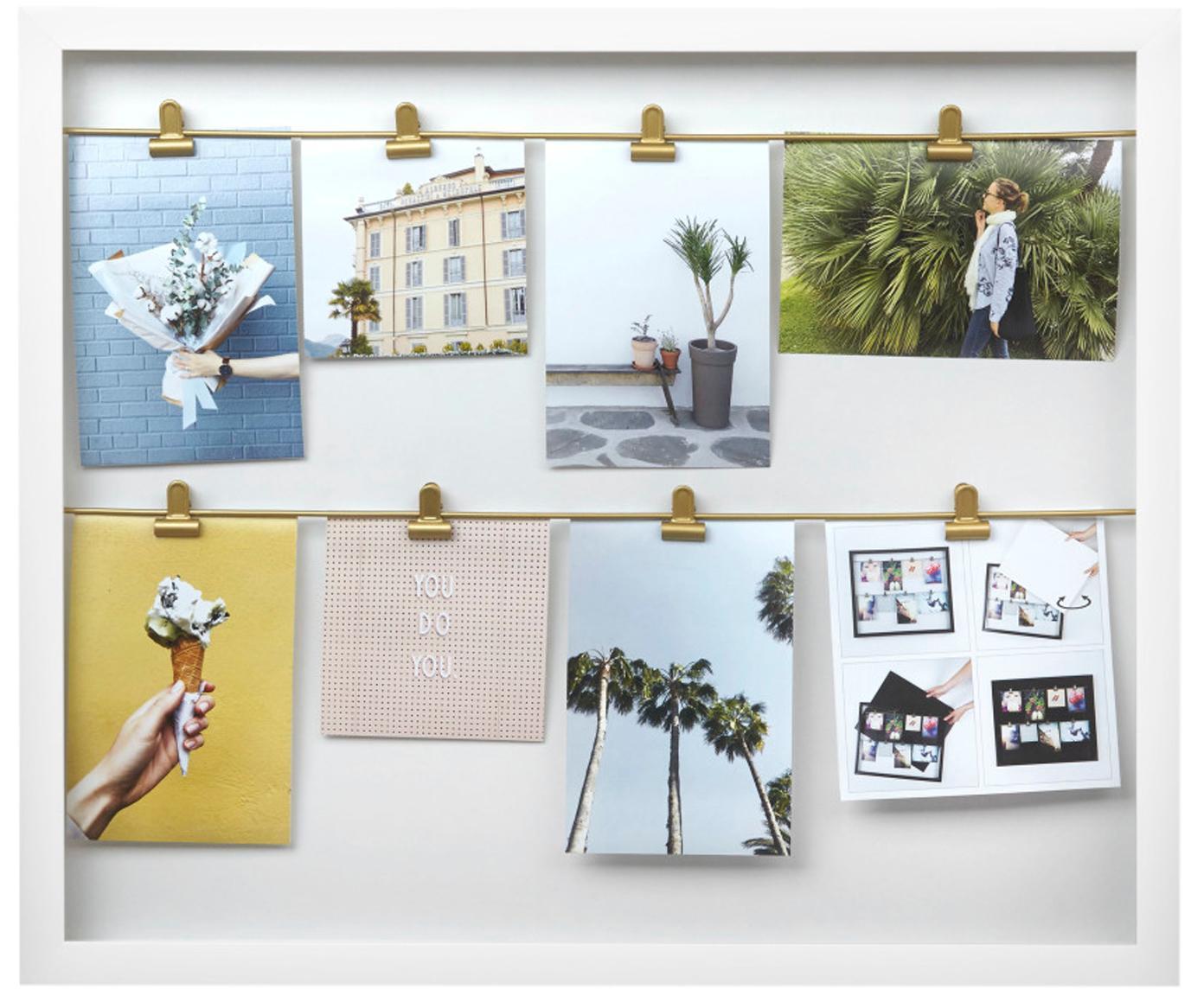 Fotolijstje Clipline, Gecoat hout, Wit, Verschillende formaten