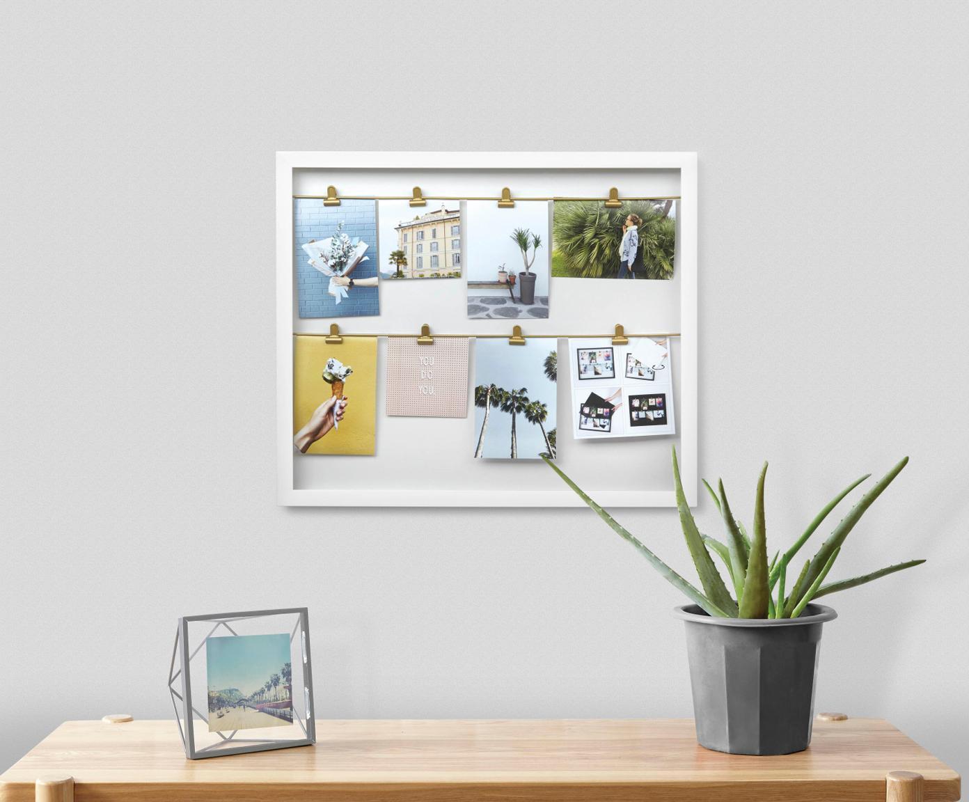 Ramka na zdjęcia Clipline, Tworzywo sztuczne, Biały, 10 x 15 cm