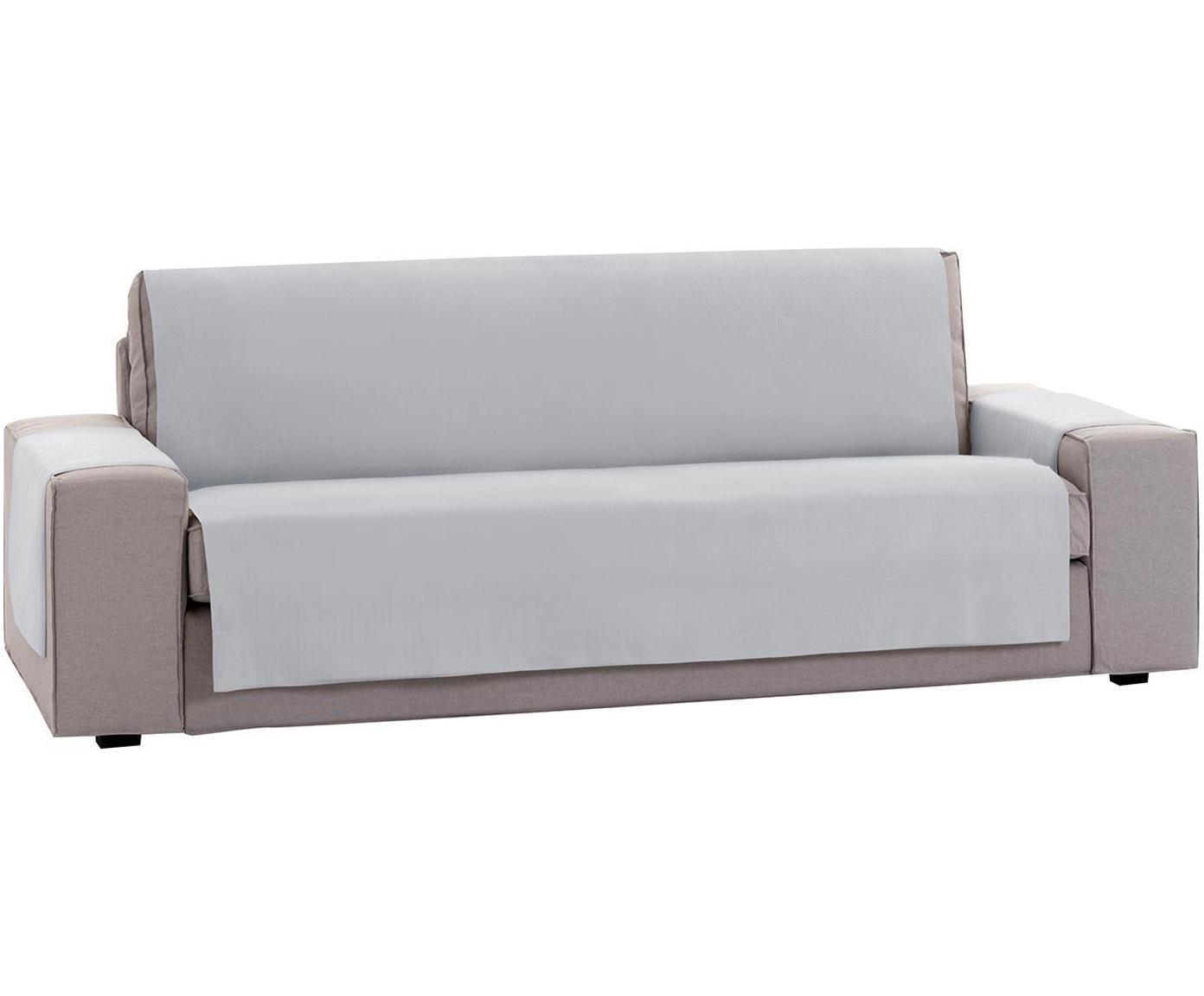 Funda de sofá Levante, 50%algodón, 50%poliéster, Gris, 2 plazas (115 x 220cm)