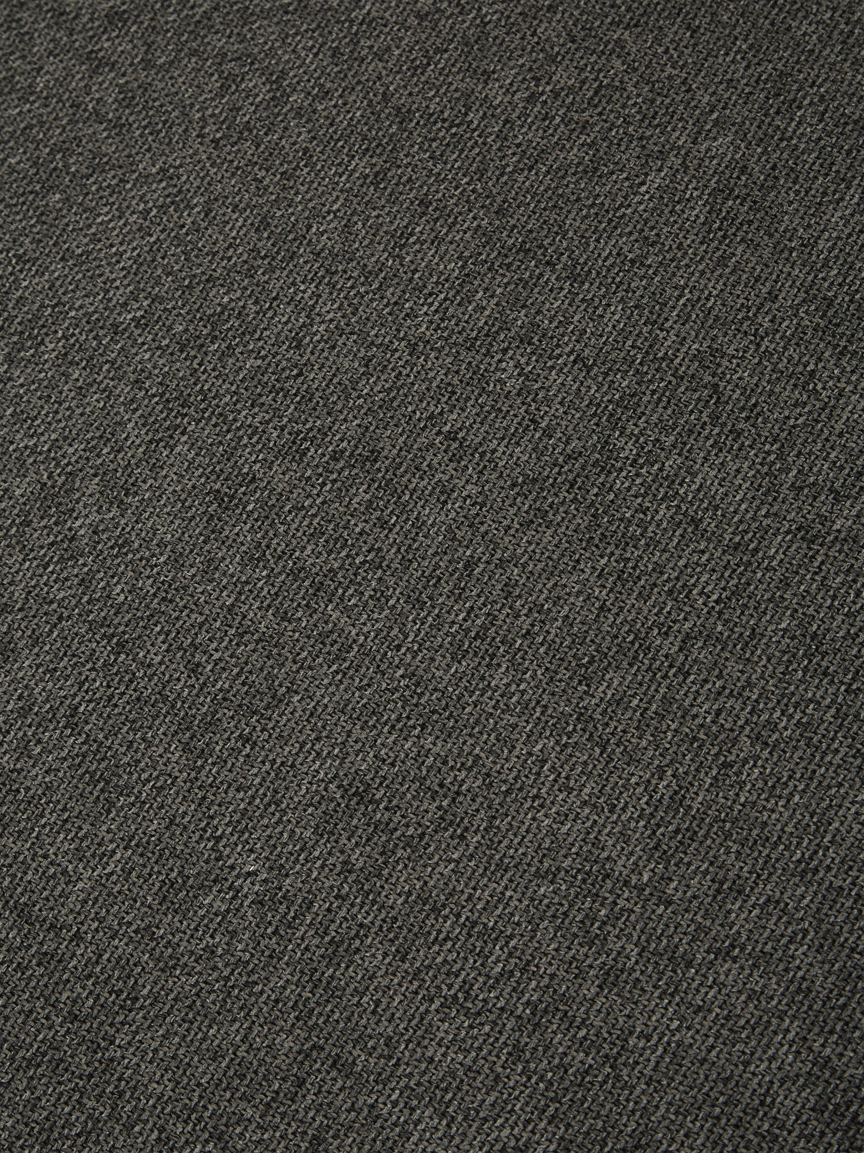 Divano componibile grande in tessuto antracite Lennon, Rivestimento: poliestere 35.000 cicli d, Struttura: legno di pino massiccio, , Piedini: materiale sintetico, Tessuto antracite, Larg. 357 x Prof. 119 cm