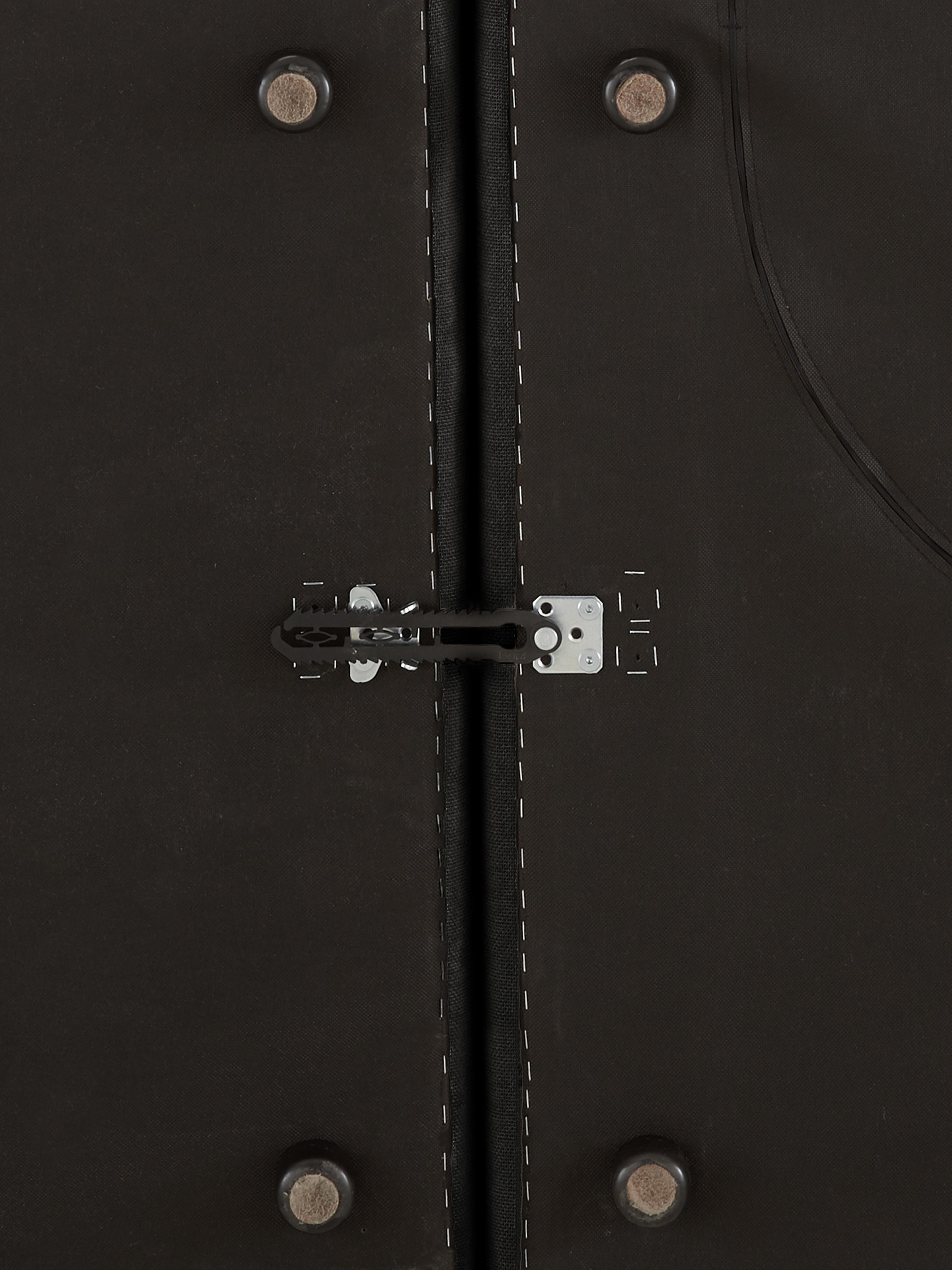 Modulare XL-Ottomane Lennon, Bezug: Polyester Der hochwertige, Gestell: Massives Kiefernholz, Spe, Füße: Kunststoff, Webstoff Anthrazit, B 357 x T 119 cm