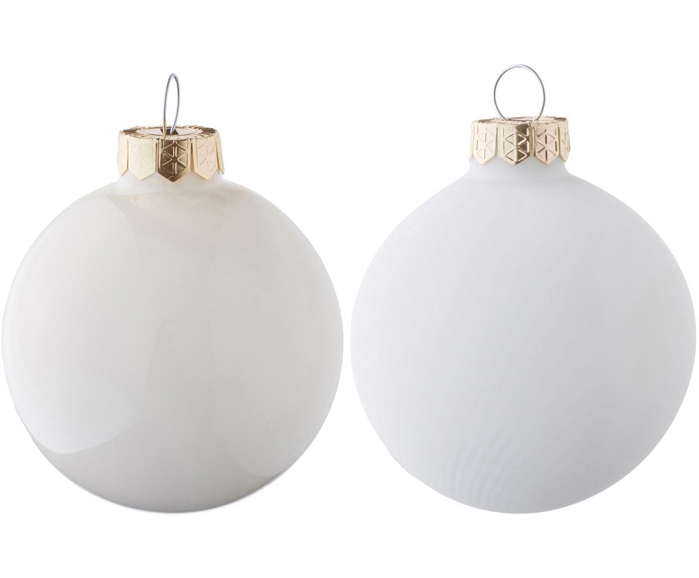 Weihnachtskugel-Set EvergreenØ6cm, 10-tlg., Cremefarben, Ø 6 cm