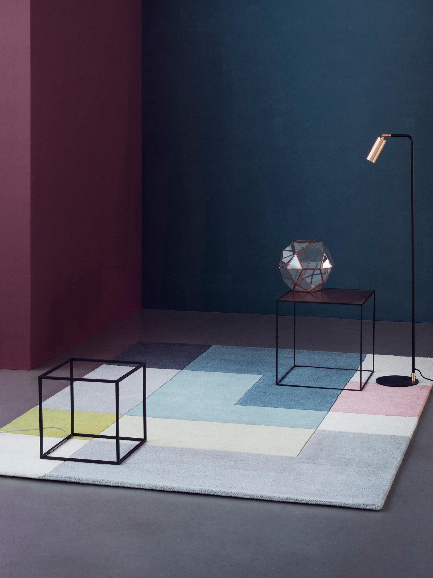 Designteppich Ometri aus Wolle, handgetuftet, Mehrfarbig, B 200 x L 300 cm (Größe L)