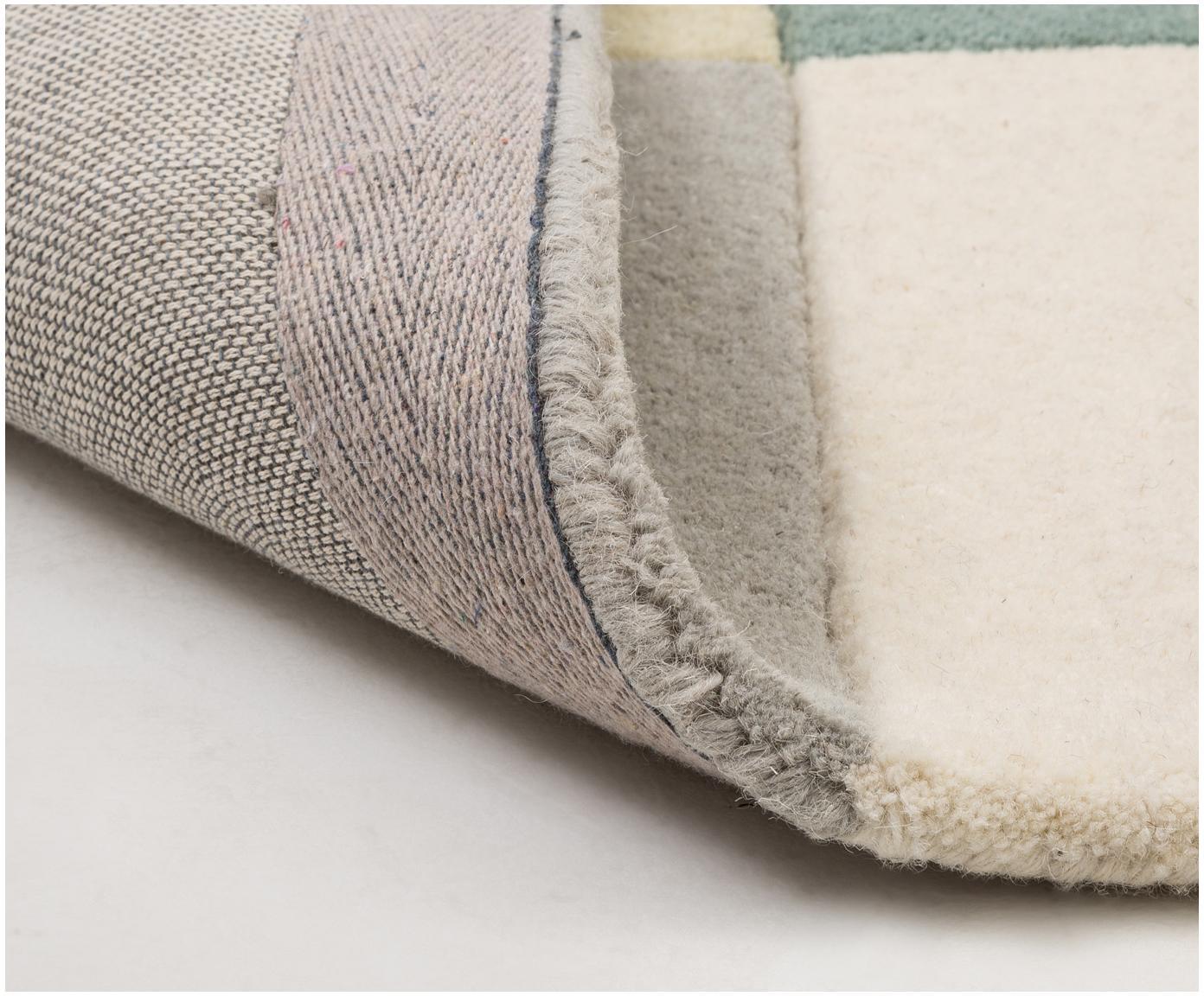 Ręcznie tuftowany dywan z wełny Tetris, Wielobarwny, S 170 x D 240 cm