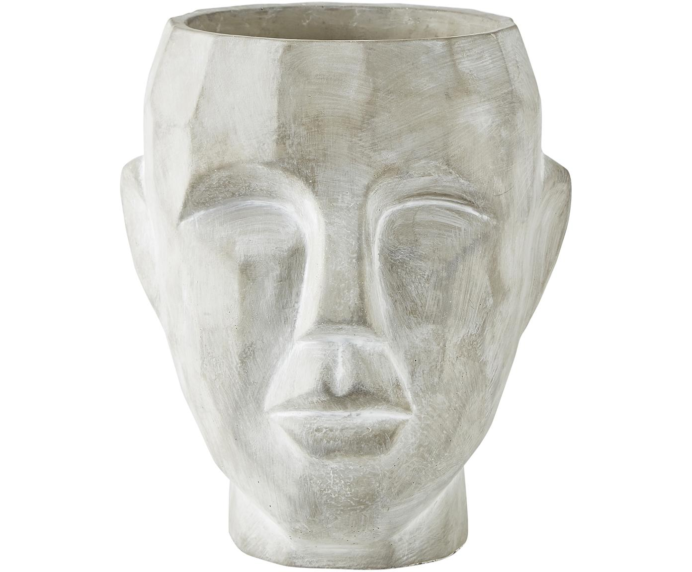 Portavaso in cemento Smile, Cemento, Grigio, Ø 19 x Alt. 22 cm