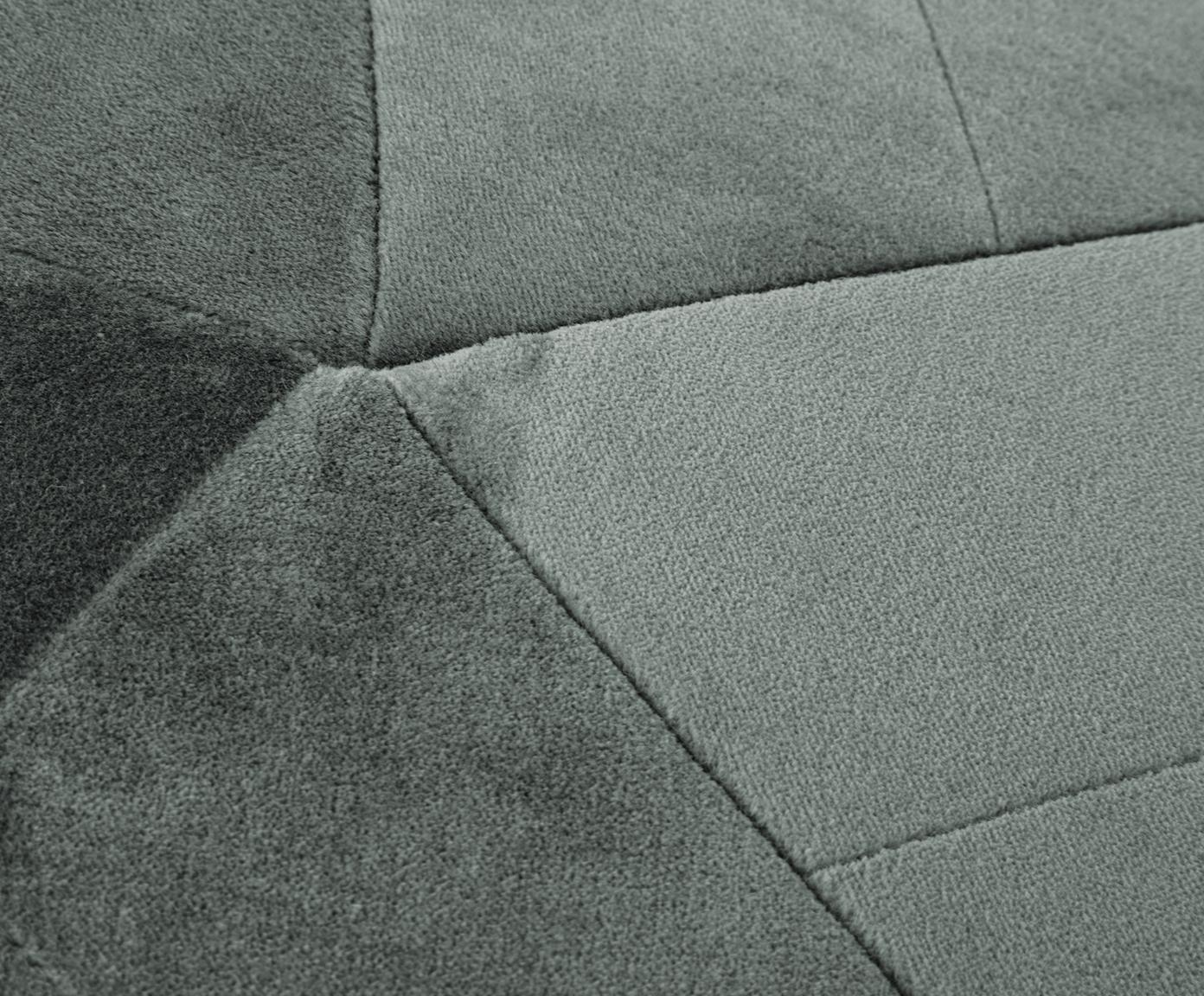 Puf z aksamitu Alicia, Tapicerka: aksamit bawełniany, Szałwiowa zieleń, Ø 60 x W 35 cm