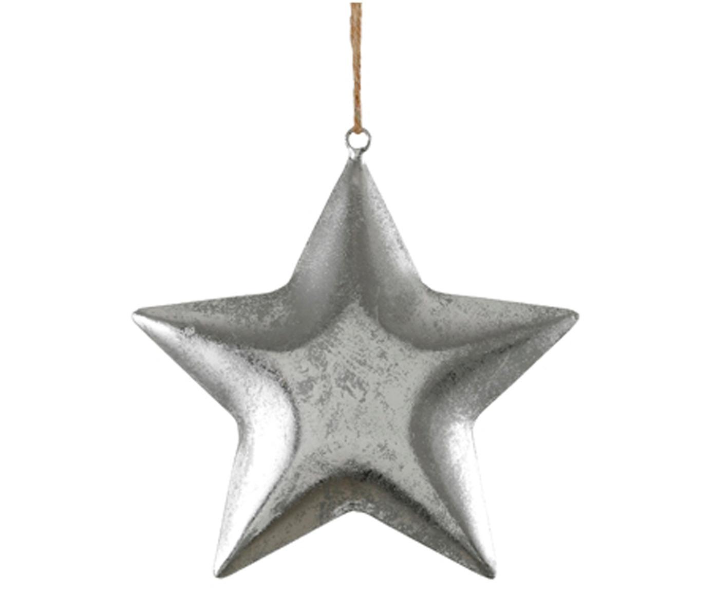 Adorno navideño Hagen, Metal, Plateado, Al 215 cm