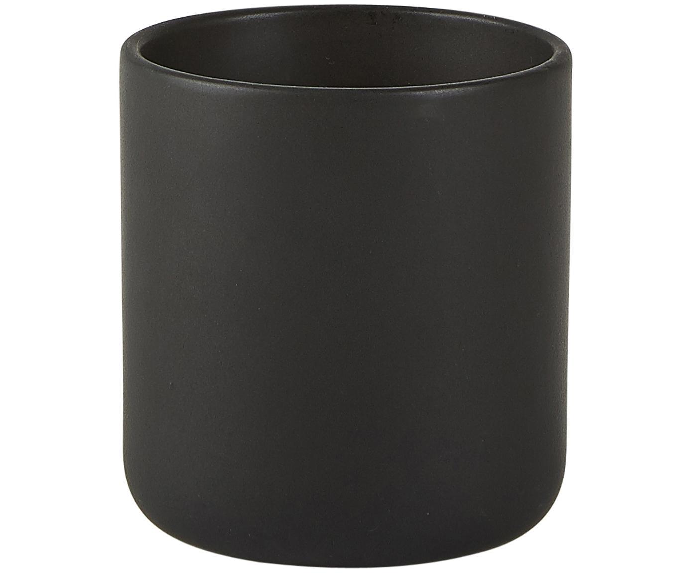 Candela profumata Sweet Wood, Contenitore: ceramica, Nero, Ø 8 x Alt. 10 cm