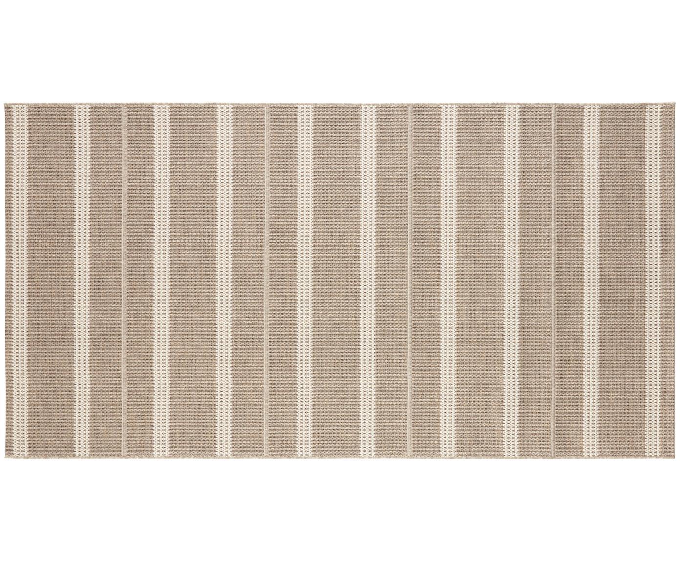 Tappeto reversibile da interno-esterno Laon, 100% polipropilene, Marrone, beige, Larg. 80 x Lung. 150 cm (taglia XS)
