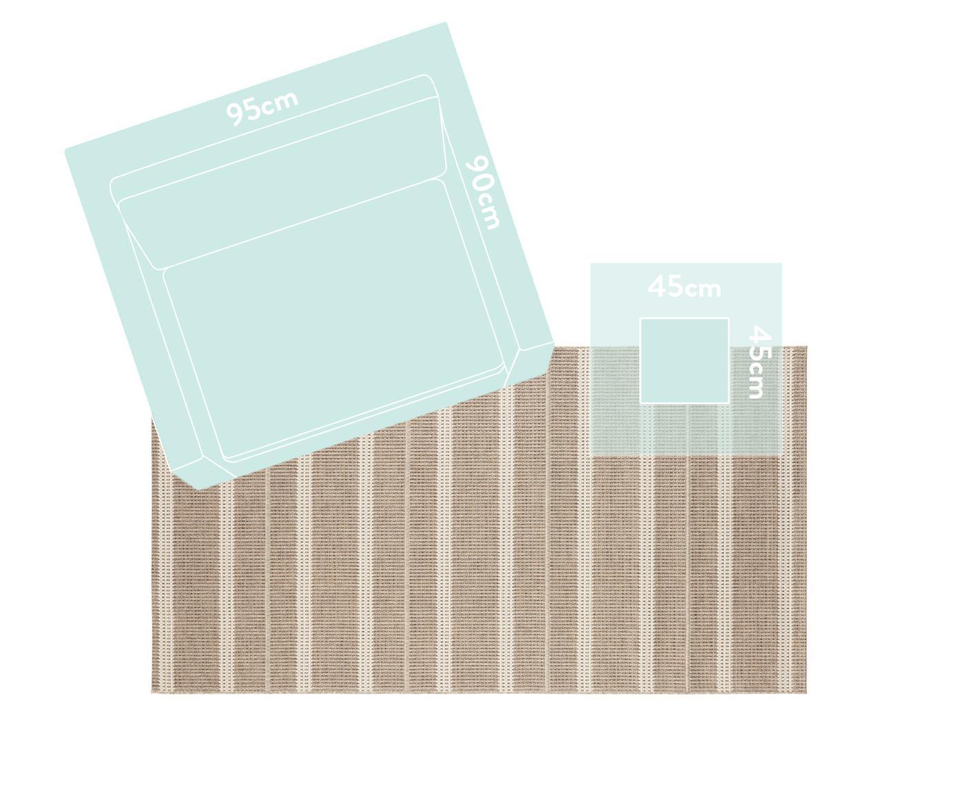 In- en outdoor vloerkleed Laon, jute-look, Polypropyleen, Bruin, beige, B 160 x L 230 cm (maat M)