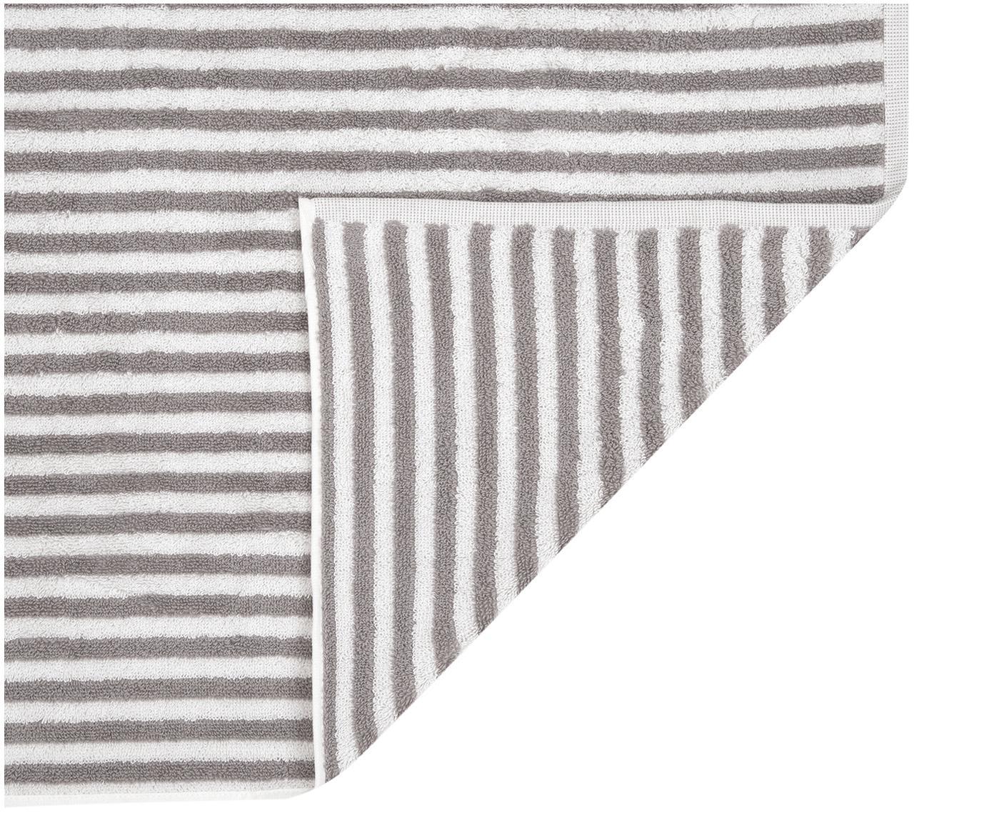 Asciugamano a righe Viola, Grigio, bianco crema, Asciugamano