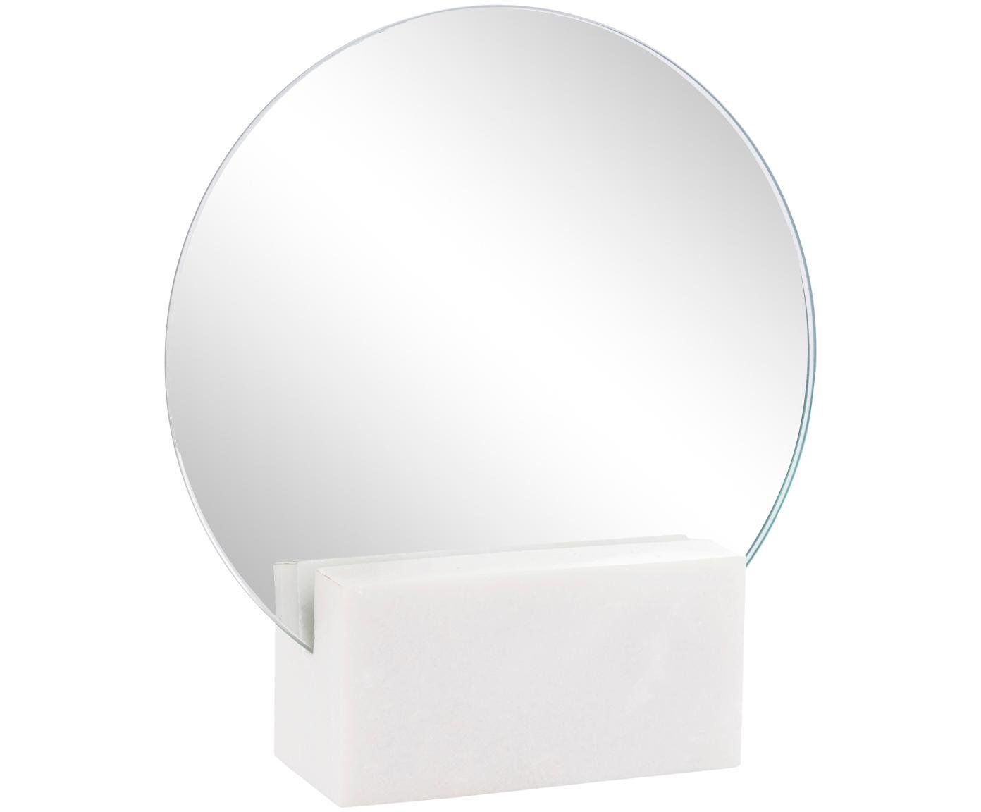 Lusterko kosmetyczne Humana, Nogi: marmur, Biały, S 17 x W 19 cm