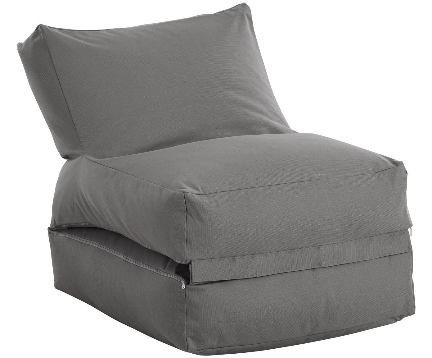 In- & Outdoor-Sitzsack Twist, Bezug: Polyacryl Dralon (garngef, Anthrazit, B 70 x T 80 cm