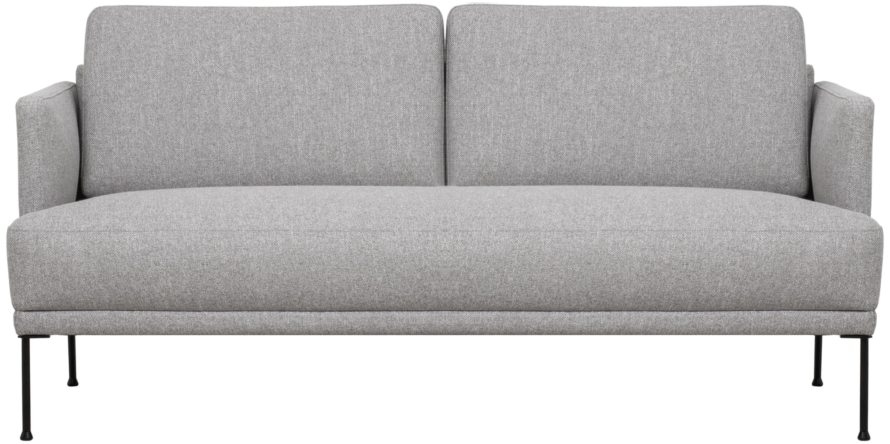 Sofa Fluente (2-Sitzer), Bezug: 80% Polyester, 20% Ramie , Gestell: Massives Kiefernholz, Füße: Metall, pulverbeschichtet, Webstoff Muster, B 166 x T 85 cm