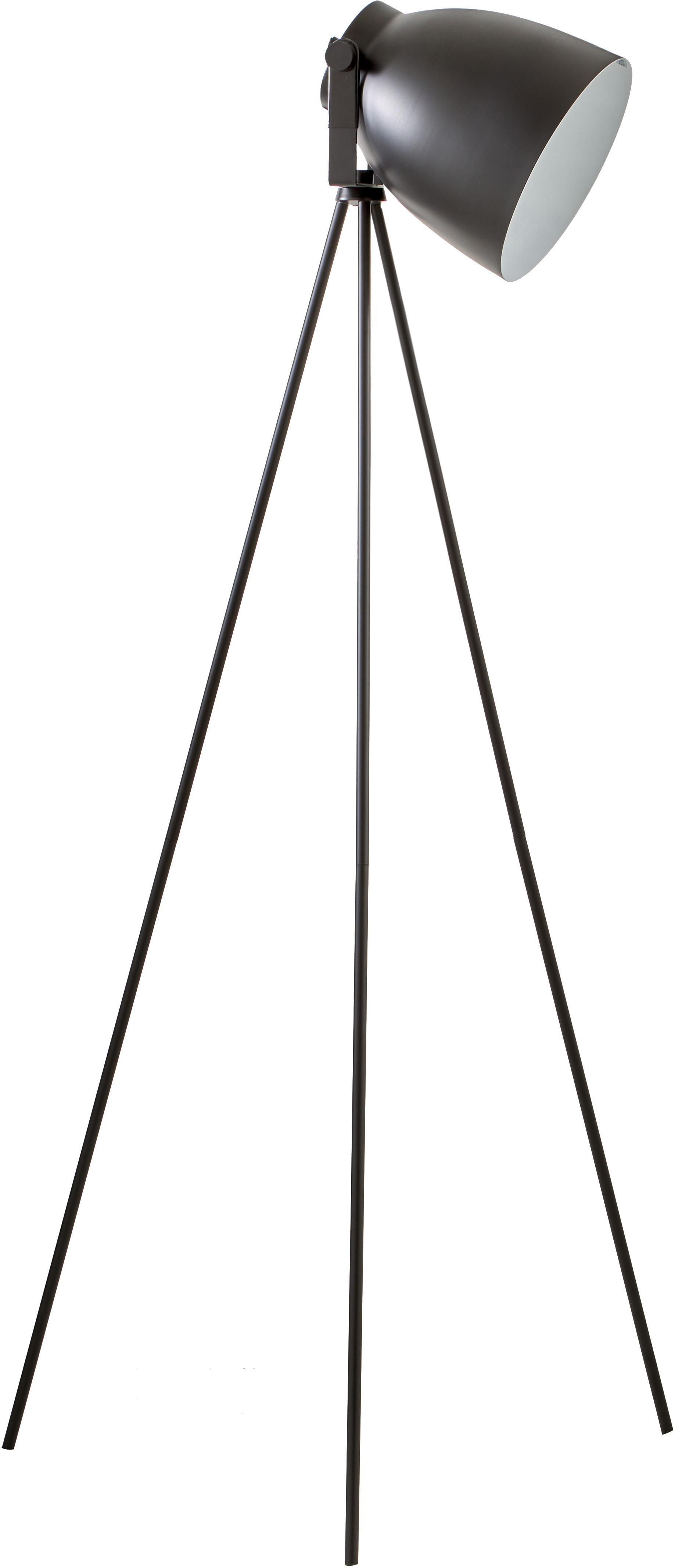 Lámpara de pie tripode Studio, estilo industrial, Cable: plástico, Negro mate, An 58 x Al 130 cm