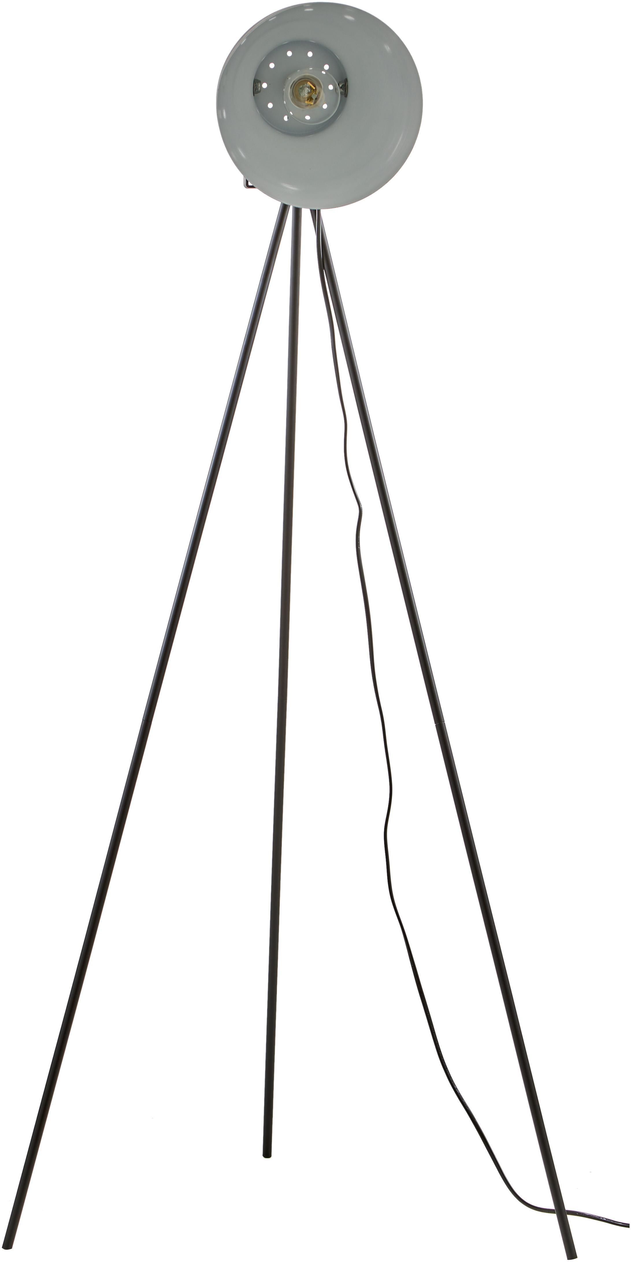 Lampada da terra industriale Studio, Acciaio, Nero opaco, Larg. 58 x Alt. 130 cm