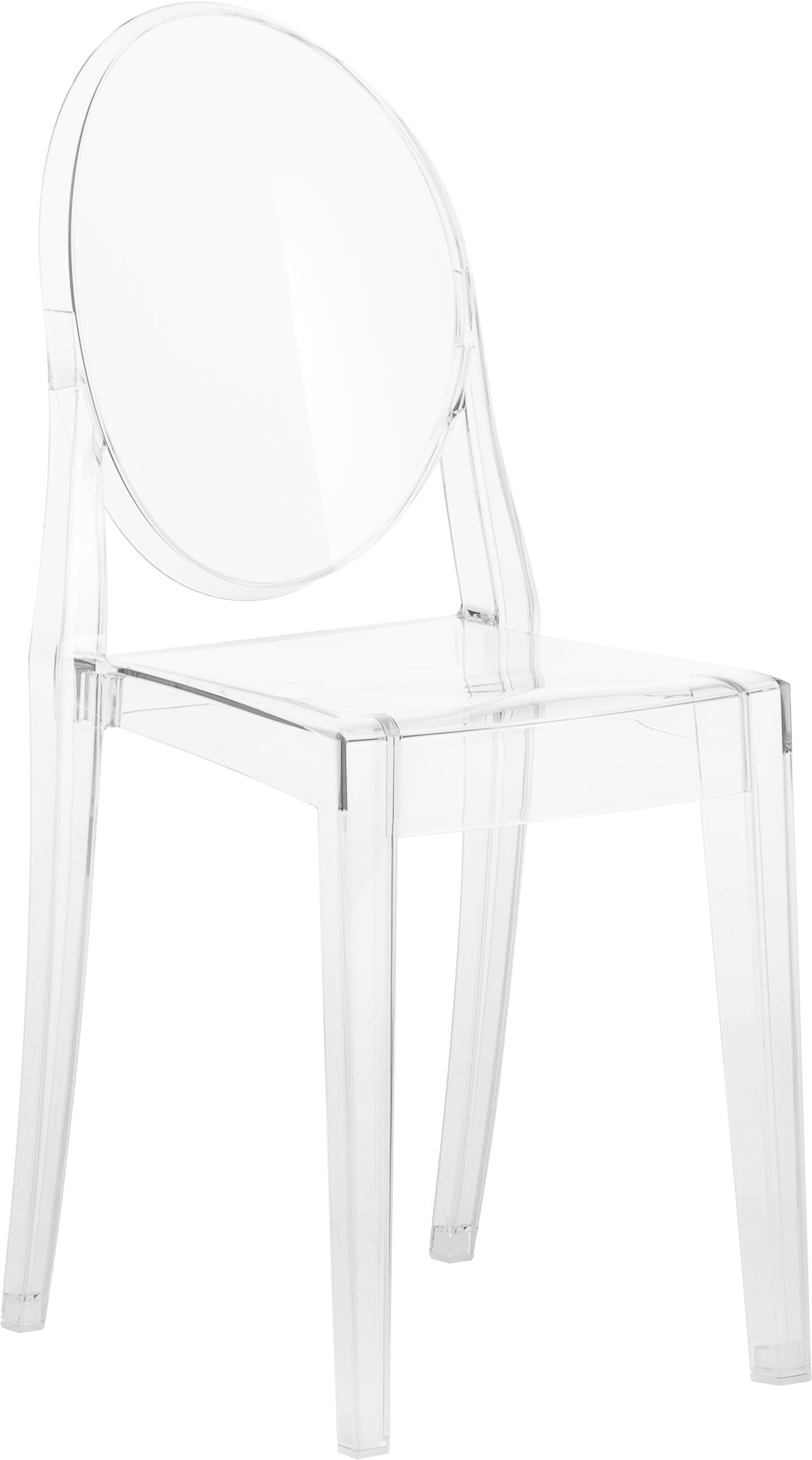 Stoel Victoria Ghost, Polycarbonaat, Transparant, 38 x 89 cm