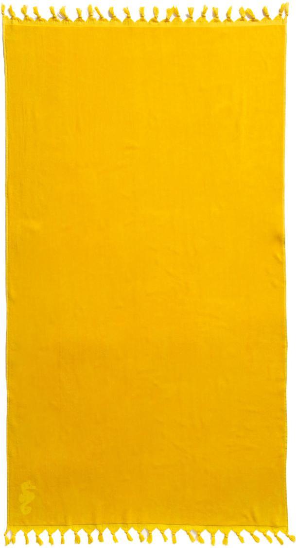 Fouta Lushie, Bawełna Średnia gramatura, 355g/m², Żółty, S 100 x D 180 cm