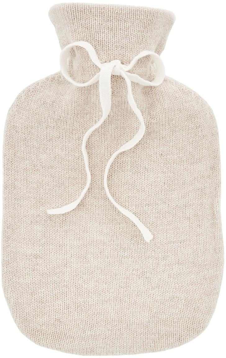 Bolsa de agua caliente de cachemira Florentina, Funda: 70%cachemira, 30%lana m, Bolsa: 100%goma, Beige, An 19 x L 30 cm
