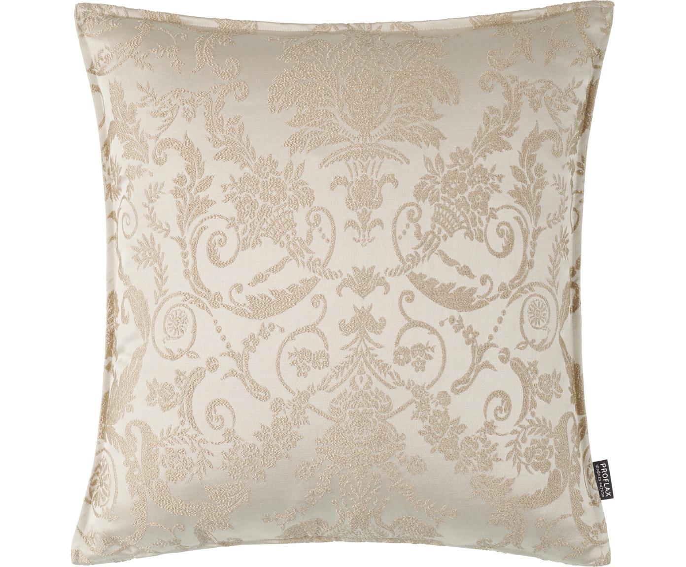 Kussenhoes Astoria, 75% polyester, 25% katoen, Beige, 40 x 40 cm