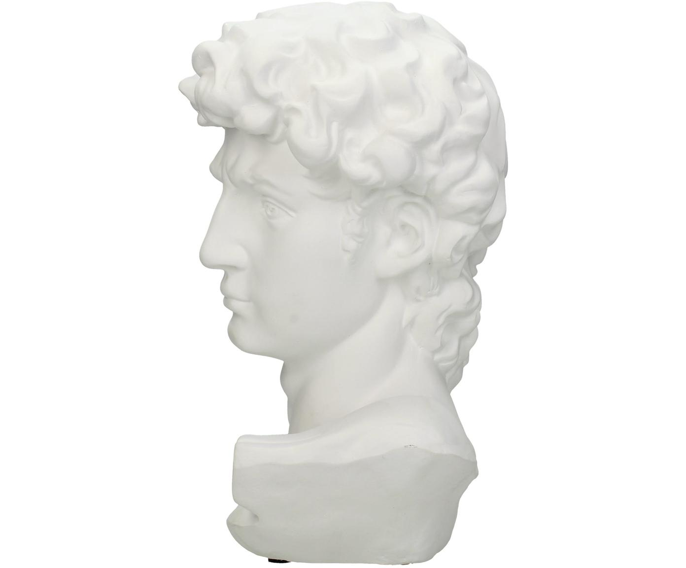 Figura decorativa David, Poliresina, Blanco, An 17 x Al 30 cm