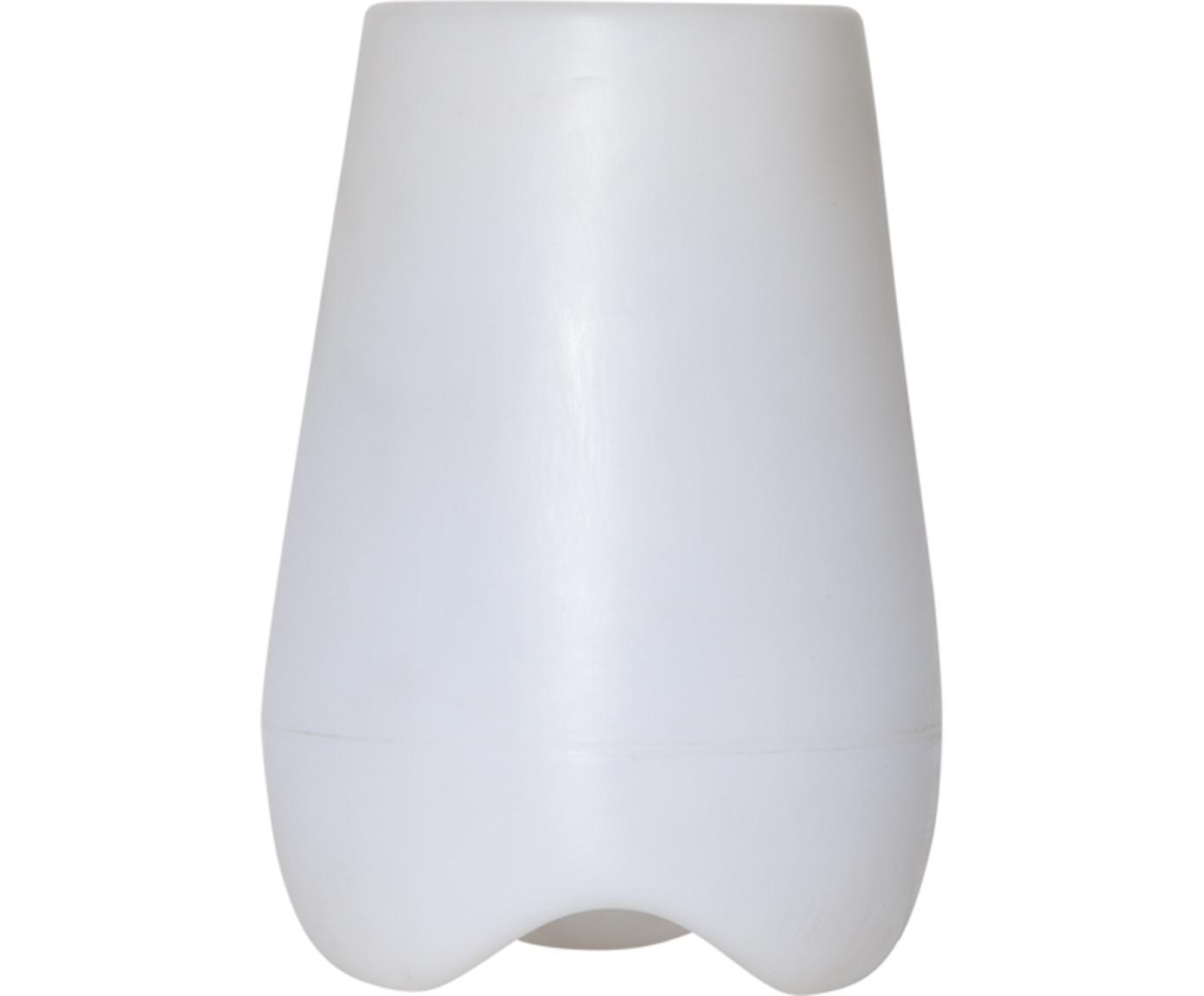 Outdoor LED lamp Twilights met plantenpot, Kunststof, Wit, Ø 28 x H 40 cm