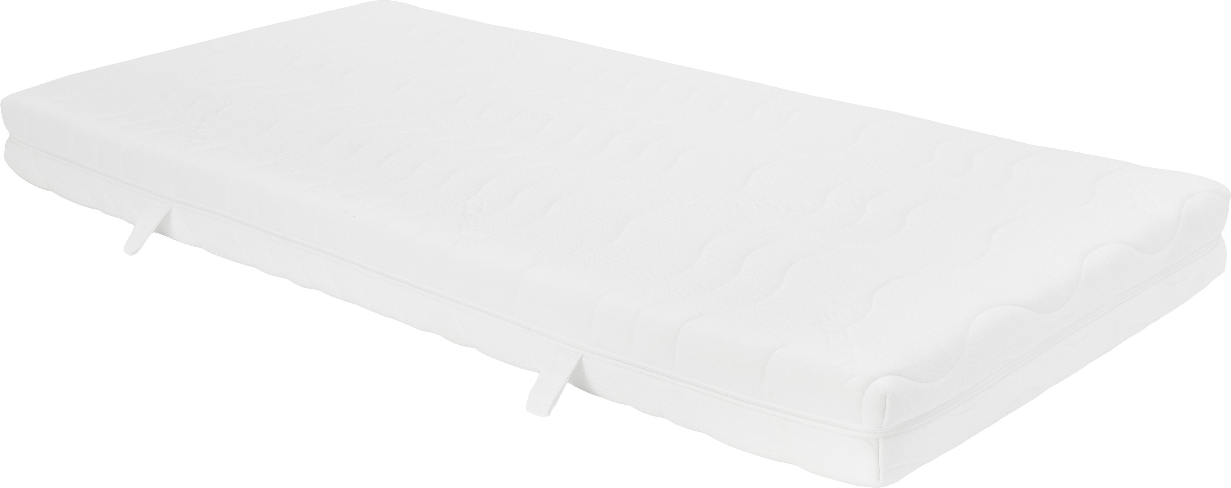 Materac z zimnej pianki Vital, Tapicerka: podwójny jersey z TENCEL®, Biały, 90 x 200 cm