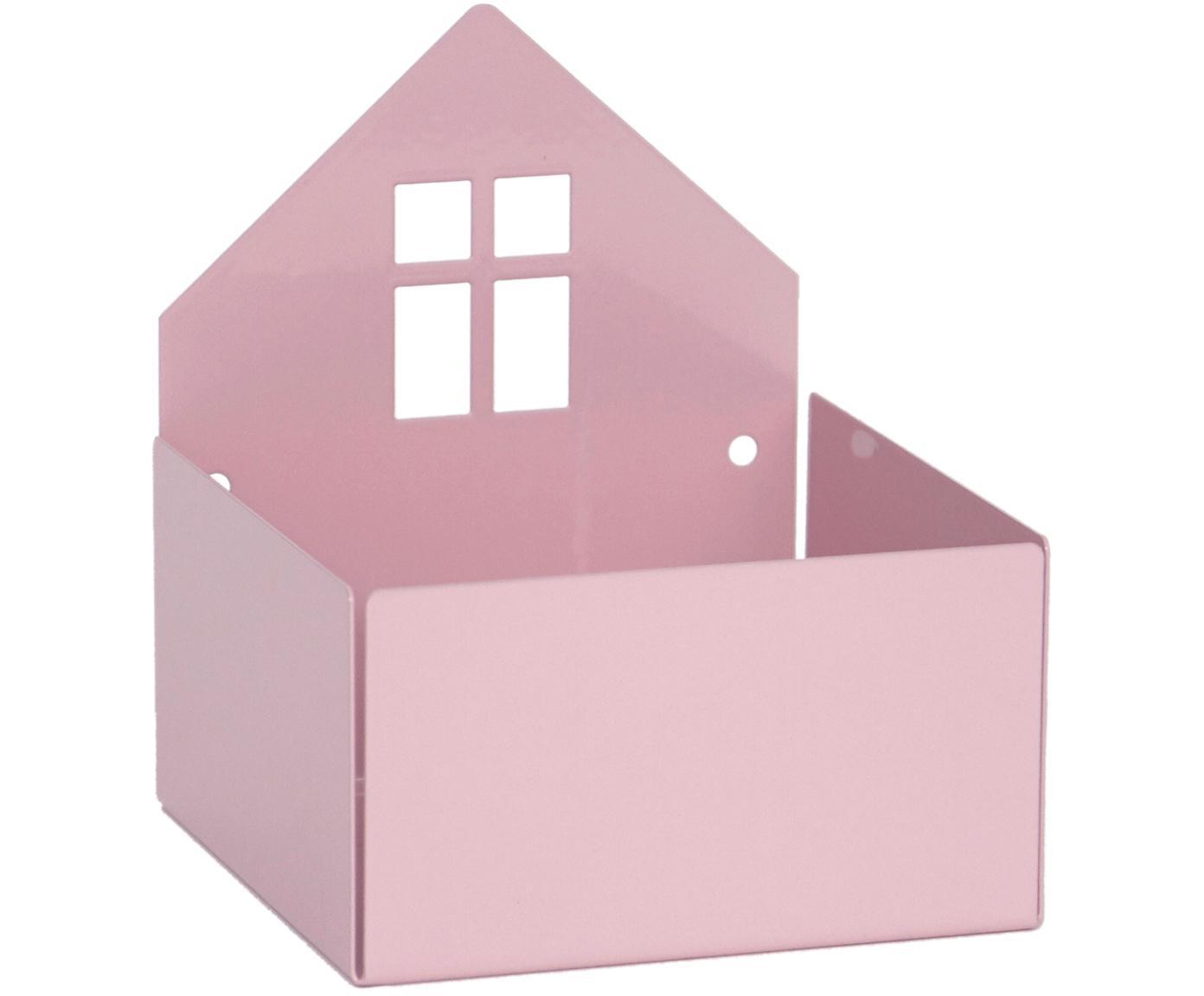 Scatola Town House, Metallo verniciato a polvere, Rosa, Larg. 11 x Alt. 13 cm