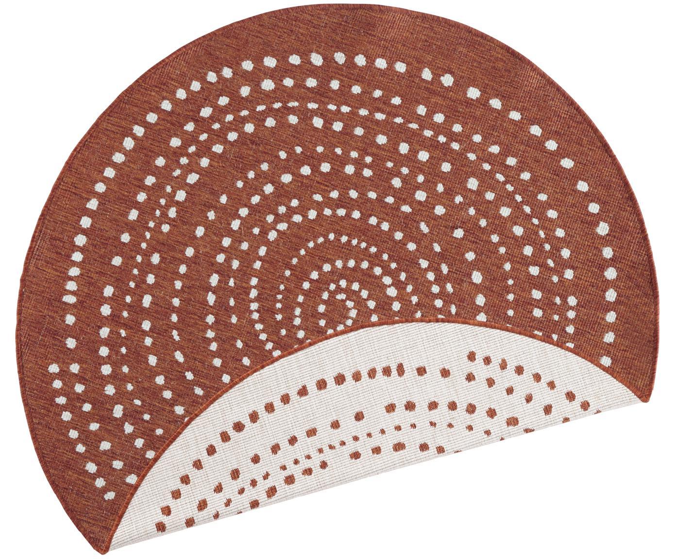 Tappeto rotondo reversibile da interno-esterno Bali, Terracotta, color crema, Ø 140 cm (taglia M)